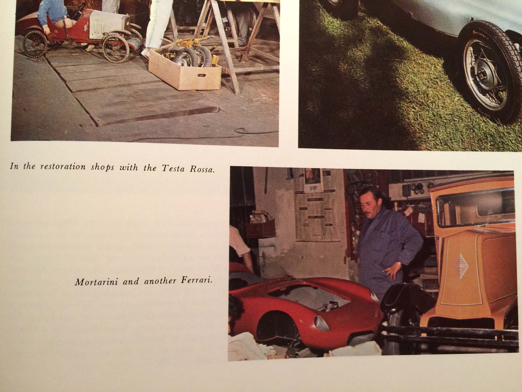 In a 1968 story about Mortorini in Automobile Quarterly, he talks about his love for scaled-down supercars.