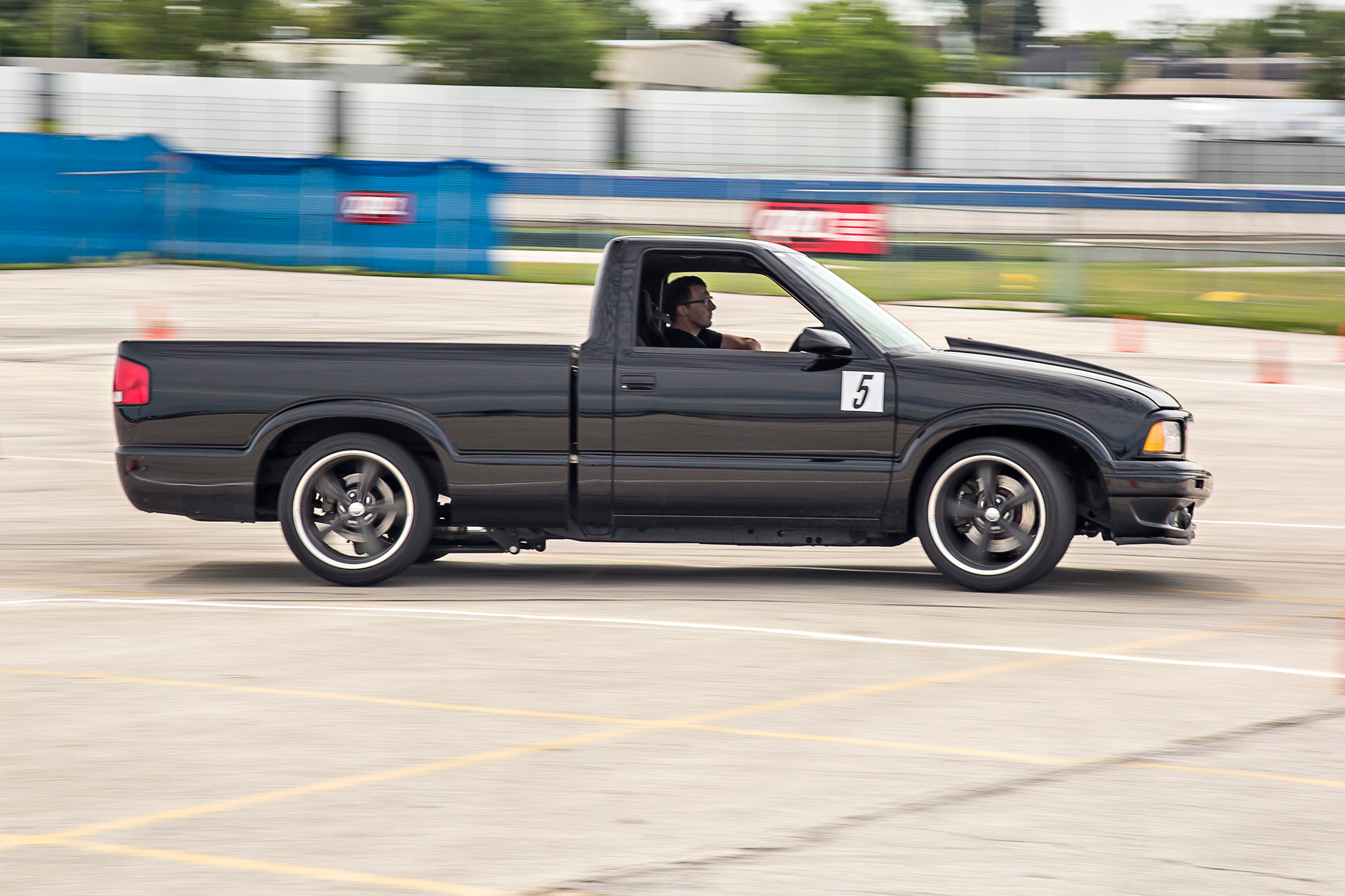 Brad Smith's S10 proved to be a fierce autocrosser. Its F-body donated driveline and Viking Performance shocks allowed the little pickup to hold its own.