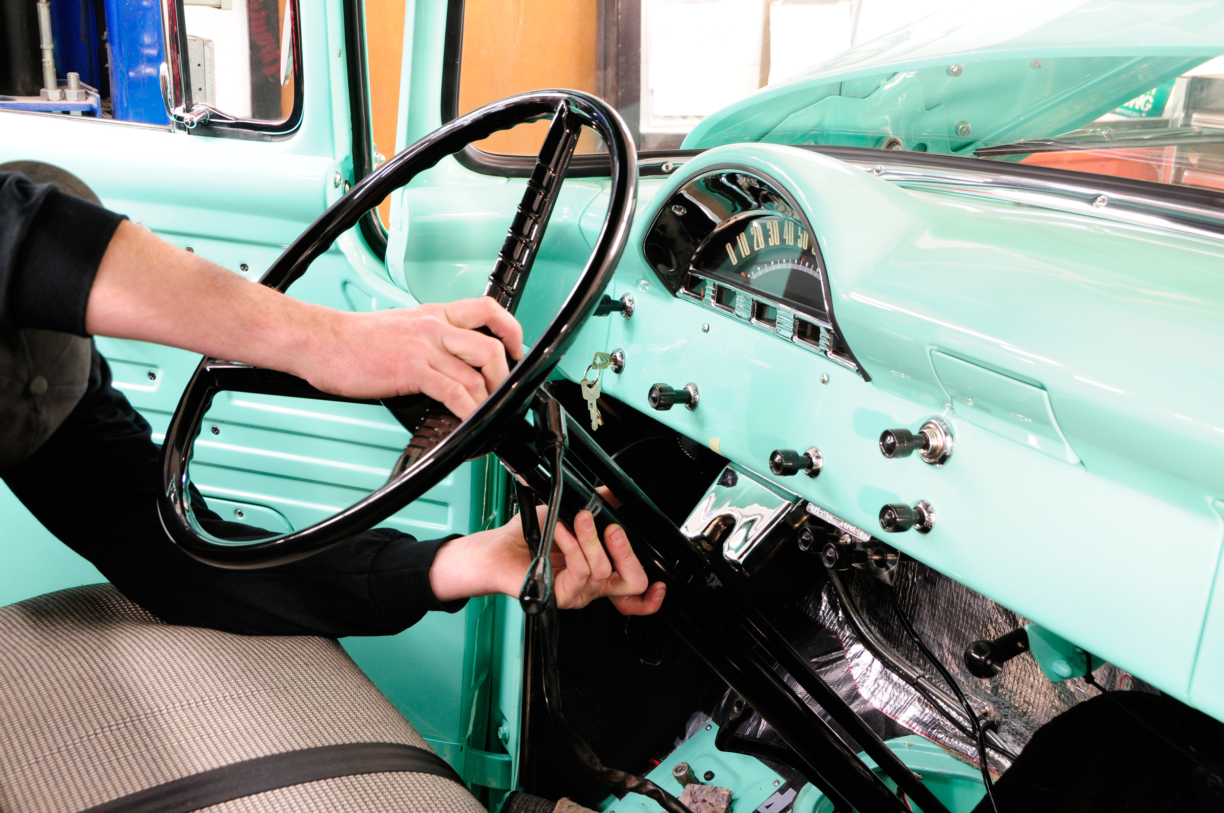 Swapping A Modern Chassis Under Vintage Ford Hot Rod Network 1955 F100 Suspension Upgrades
