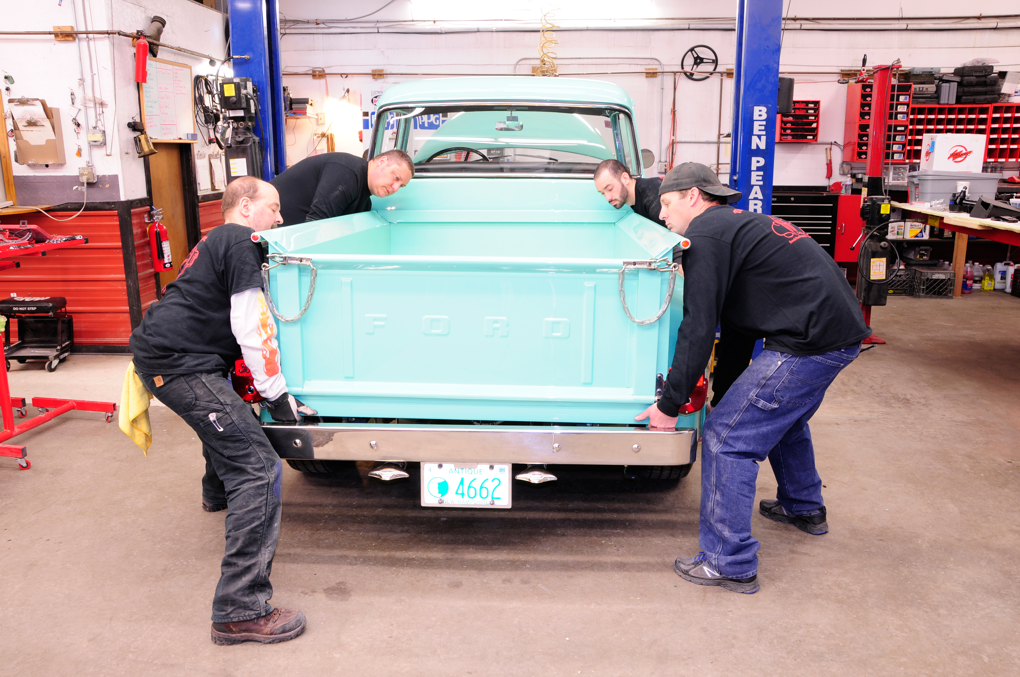 Swapping A Modern Chassis Under Vintage Ford Hot Rod Network 1955 F100 Pickup Truck Gas Pedal