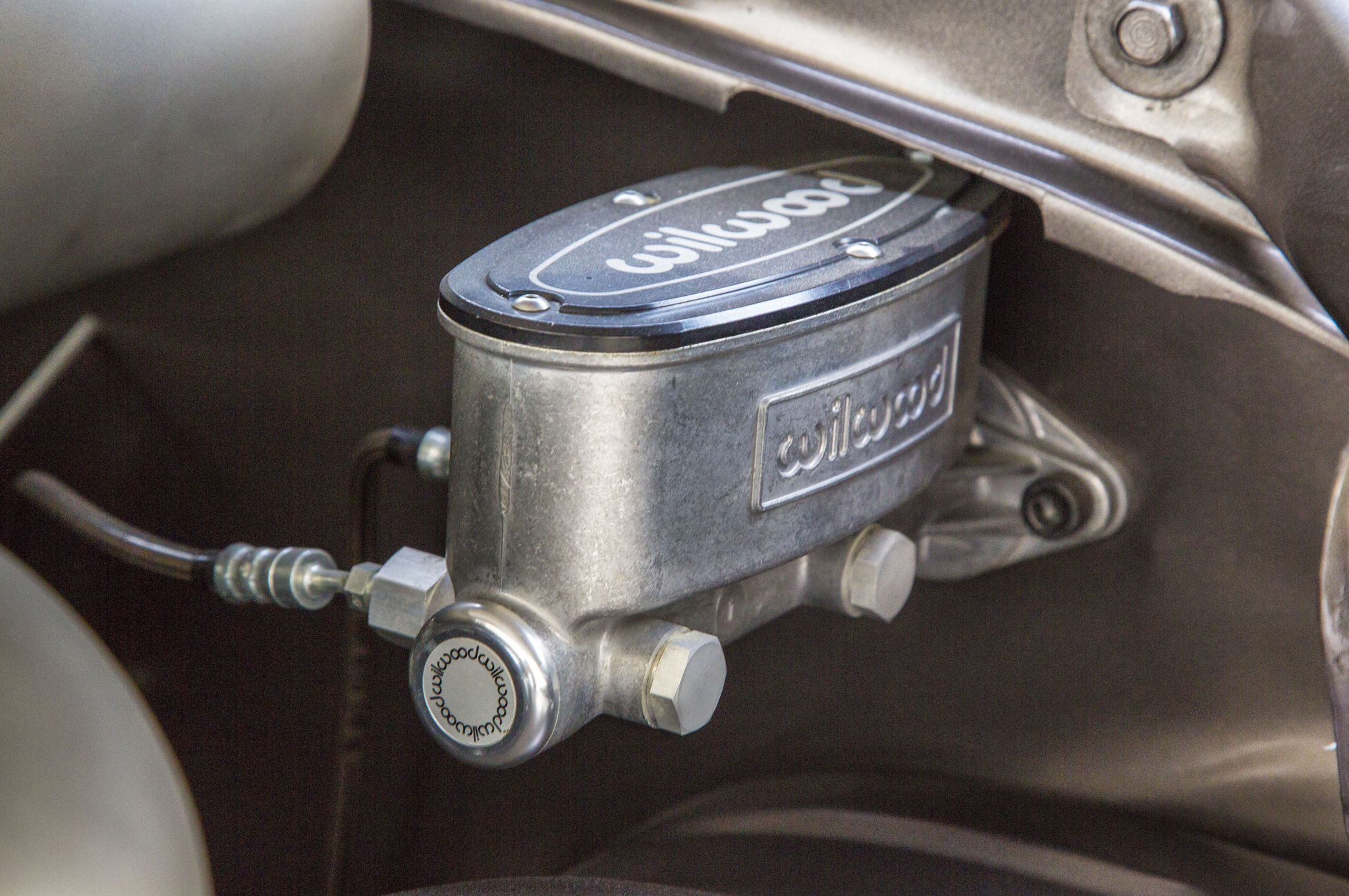 Running a diesel means no vacuum boost for brakes, so Weaver Customs went with a mechanical master cylinder from Wilwood.