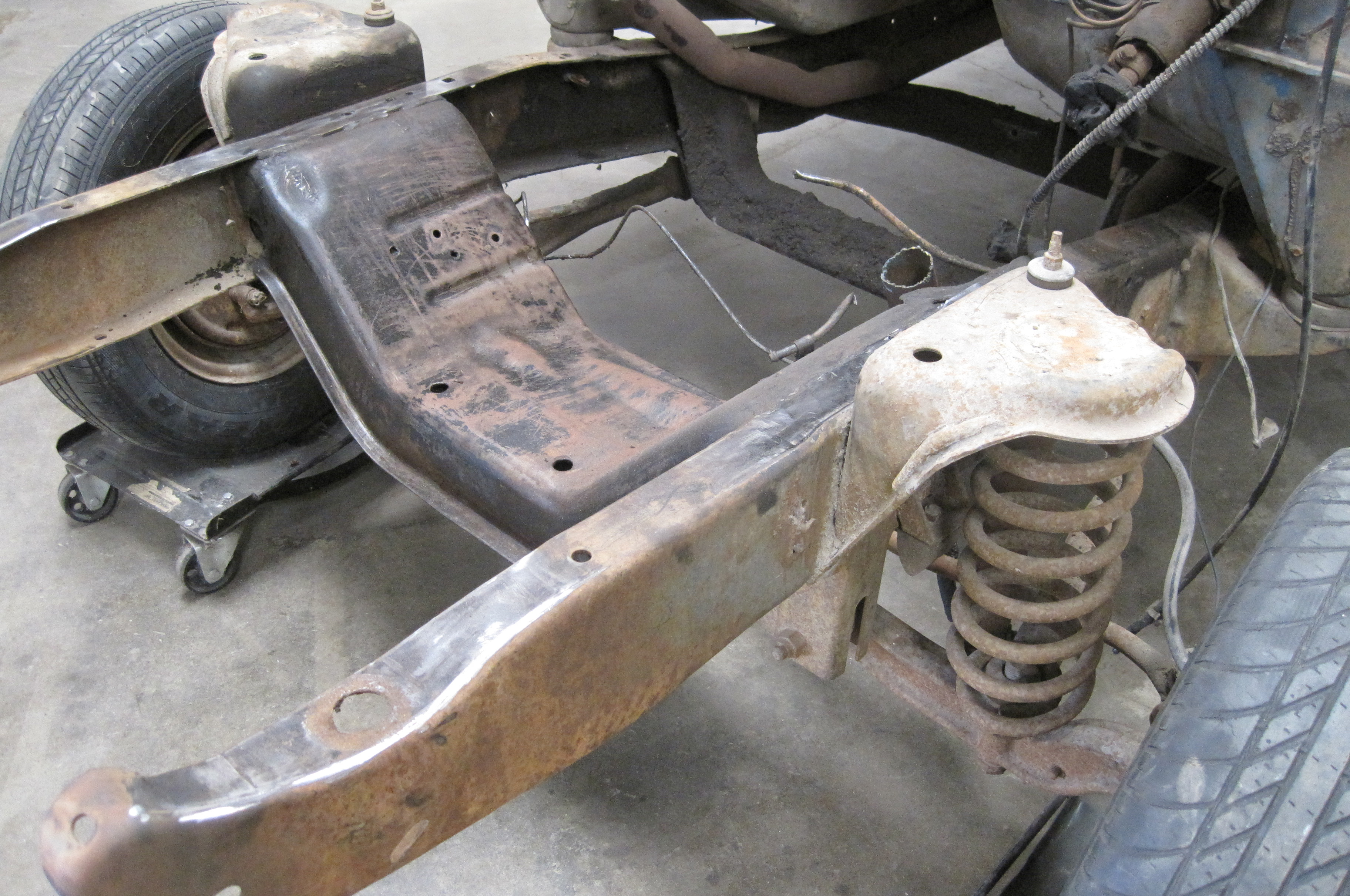 Lowering A Twin I Beam 1965 Ford F 100 Part 1 Hot Rod Network 1955 F100 Suspension Upgrades