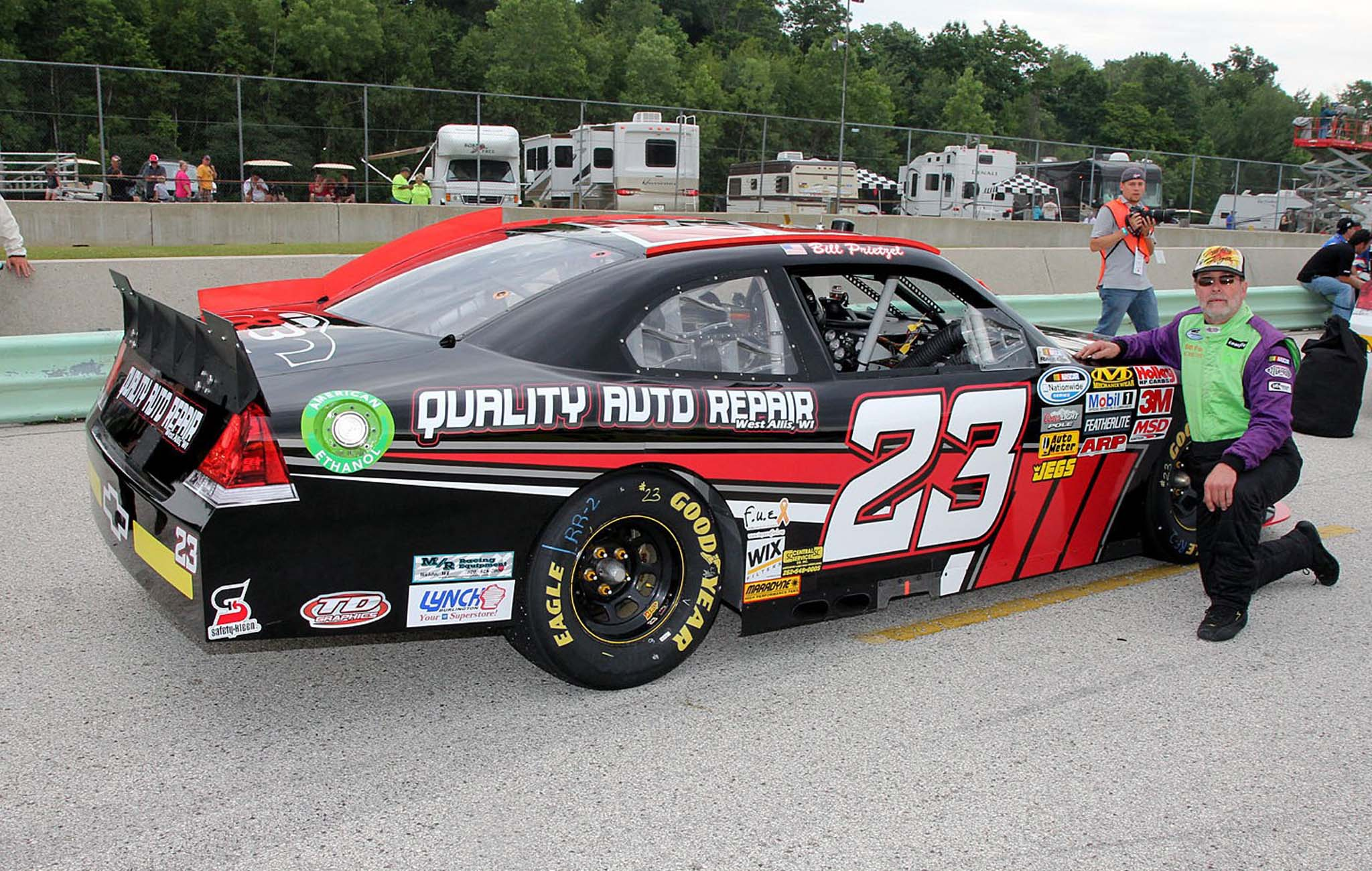 Prietzel finished 27th in his first Nationwide start in 2013.