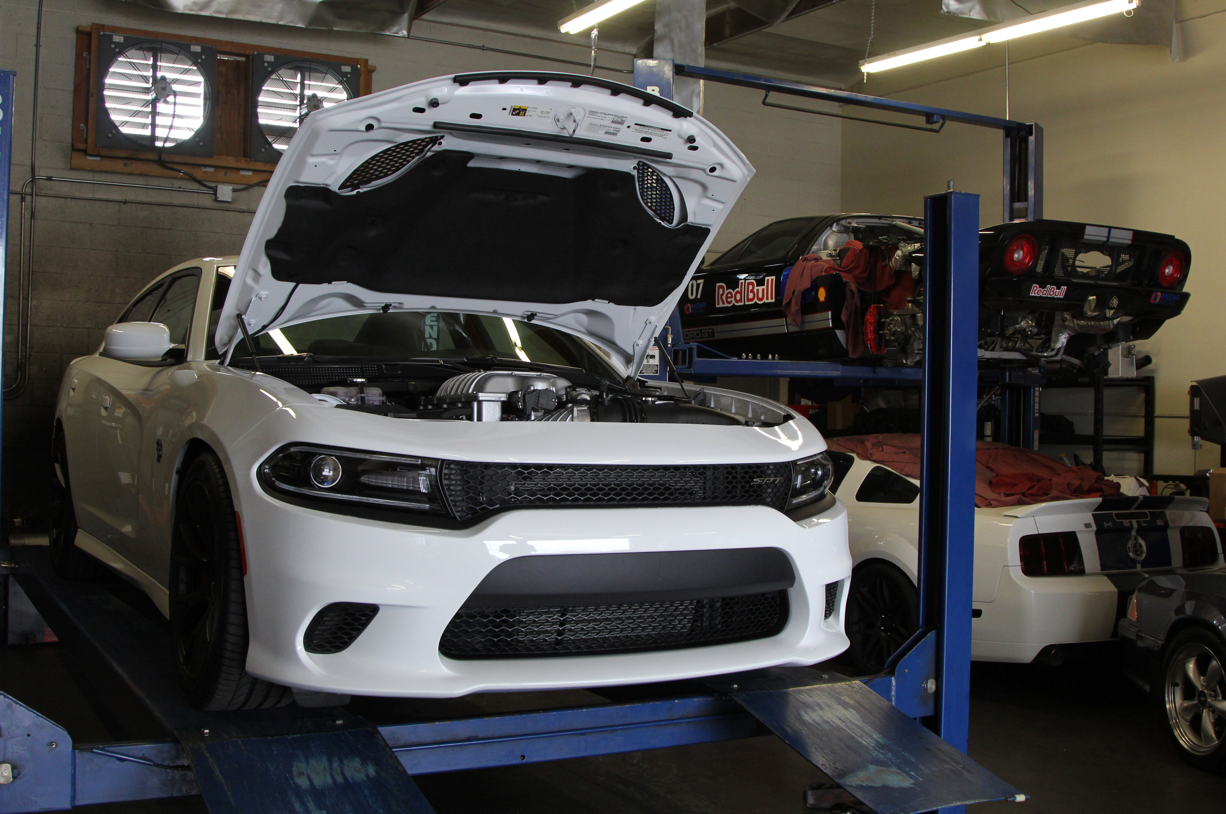 We threw the Charger Hellcat on the rollers at Addiction Motorsports in Canoga Park, California, and saw 583 rwhp (using the SAE correction). That's a little lower than we expected, but it was a good indication of how the hot summer weather would affect the performance.