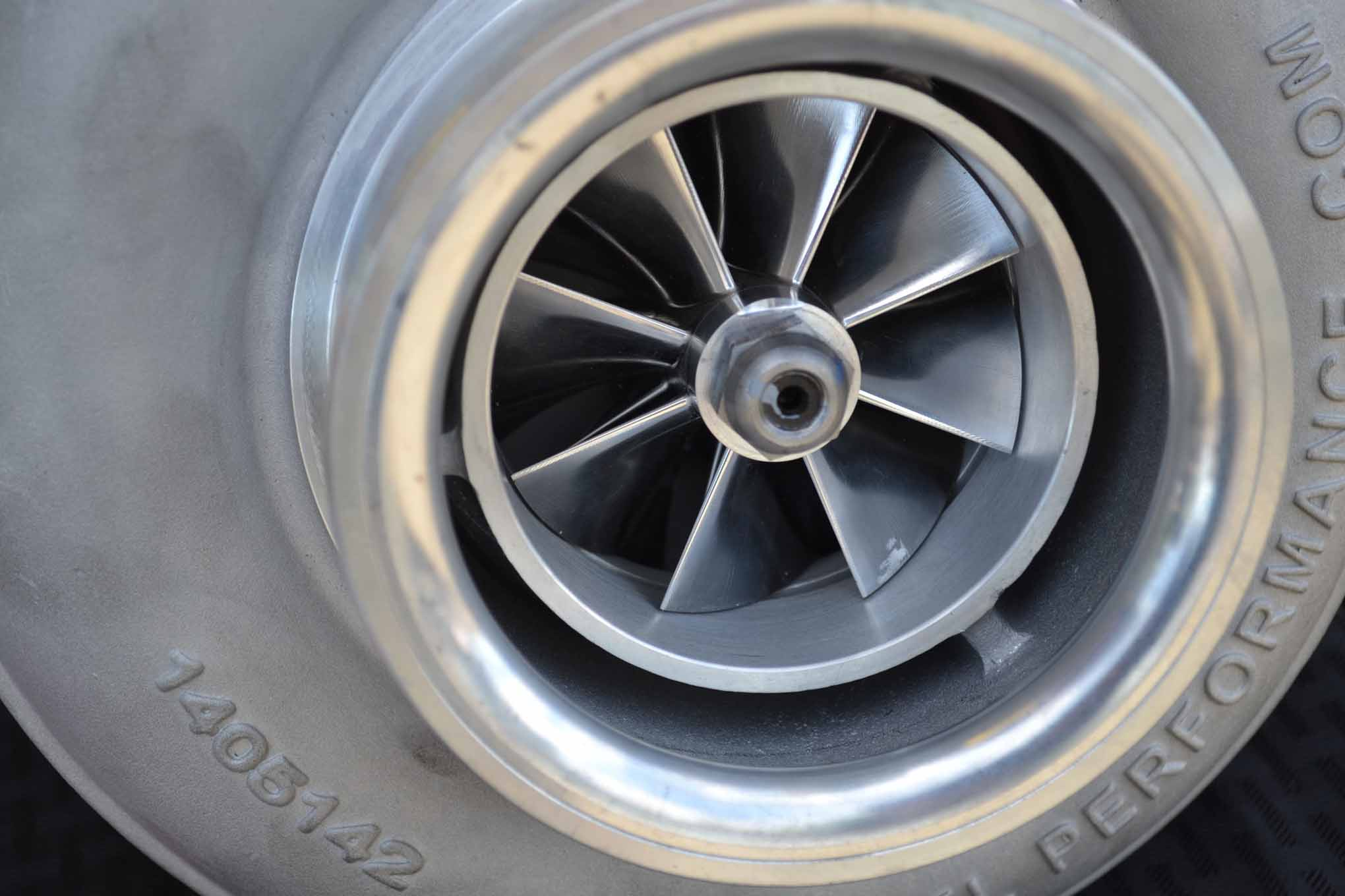 The latest trend in turbos are billet wheels, which are CNC'd (as opposed to cast) and offer very high strength along with favorable flow numbers. Most of these new-generation turbos are good to a 4 to 5:1 pressure ratio (about 45 to 60 psi), so overspeeding a correctly sized turbo usually isn't a problem.