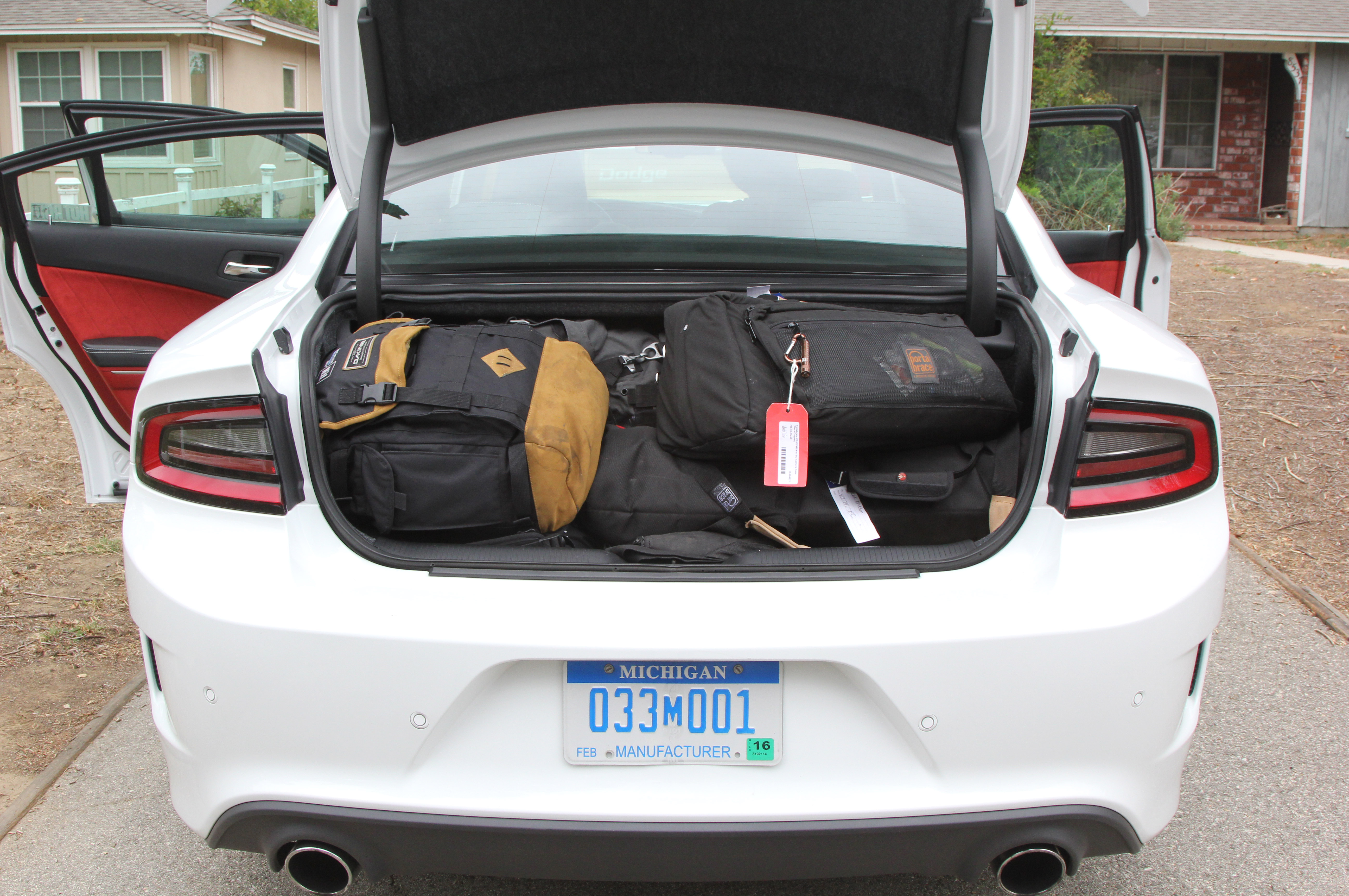 Any complaints about the Charger being a big, heavy four-door disappear once you see how much gear it can carry.