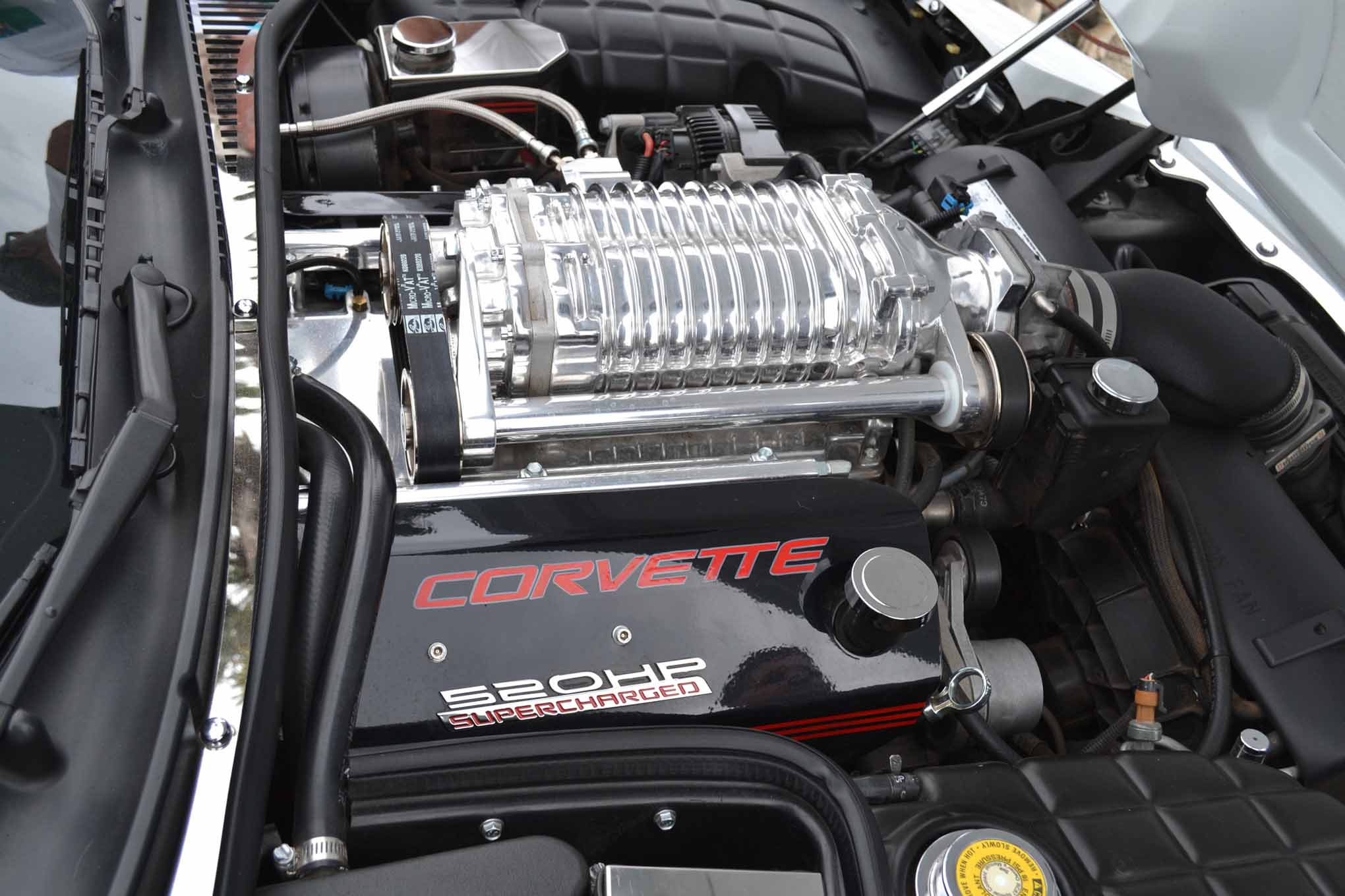Packaging with Roots and screw superchargers can sometimes be difficult, too. Check out this jackshaft-driven supercharger on a newer Corvette.