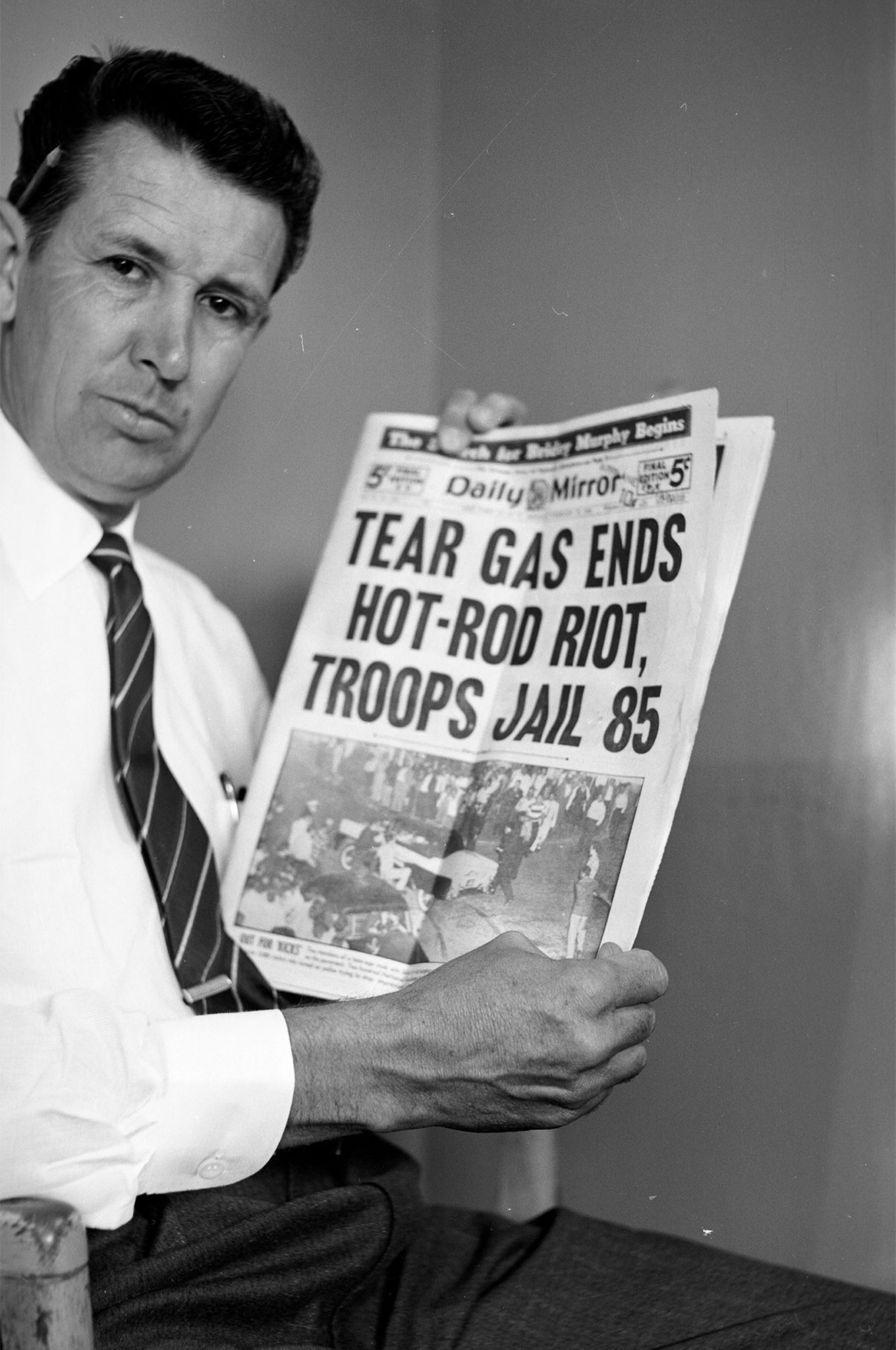 """""""But when a few rock-hurling inebriates stirred up a storm in a small town loaded with newsmen and photographers, imaginations ran rampant and respectable hot rodding all over the world suffered the beating, for the sake of a headline!"""" (May '56 HRM: """"The Editor Says"""") Yes, Wally, but what a headline!"""
