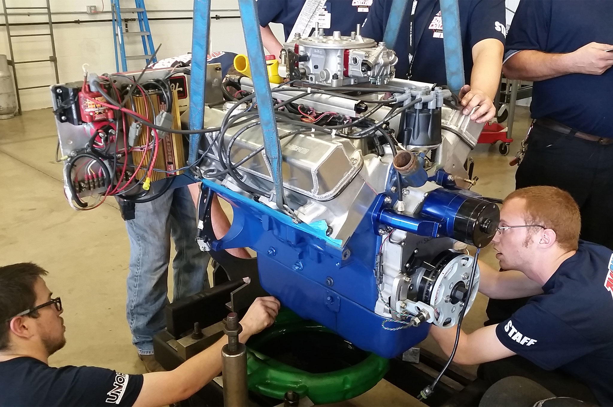 Championing the Ford FE camp will be Barry Rabotnik of Survival Motorsports. Known as a leader in the FE world, Rabotnik always comes loaded for bear with cylinder heads of his own design. This mill displaces 483 inches and most unusually is equipped to run on both carburetion and EFI.