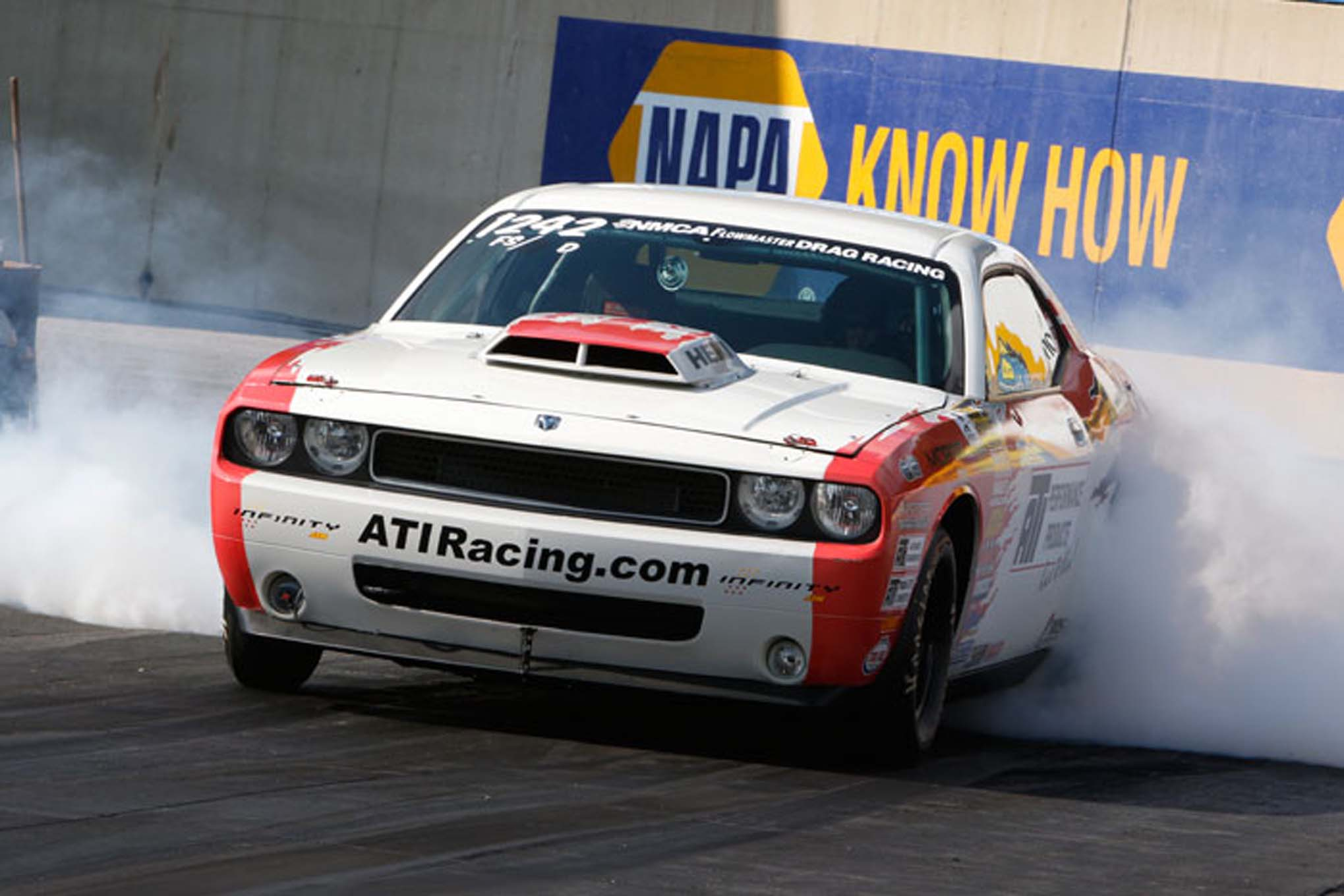 J.C. Beattie ran in Stock with this ATI-backed Drag Pak Dodge Challenger.