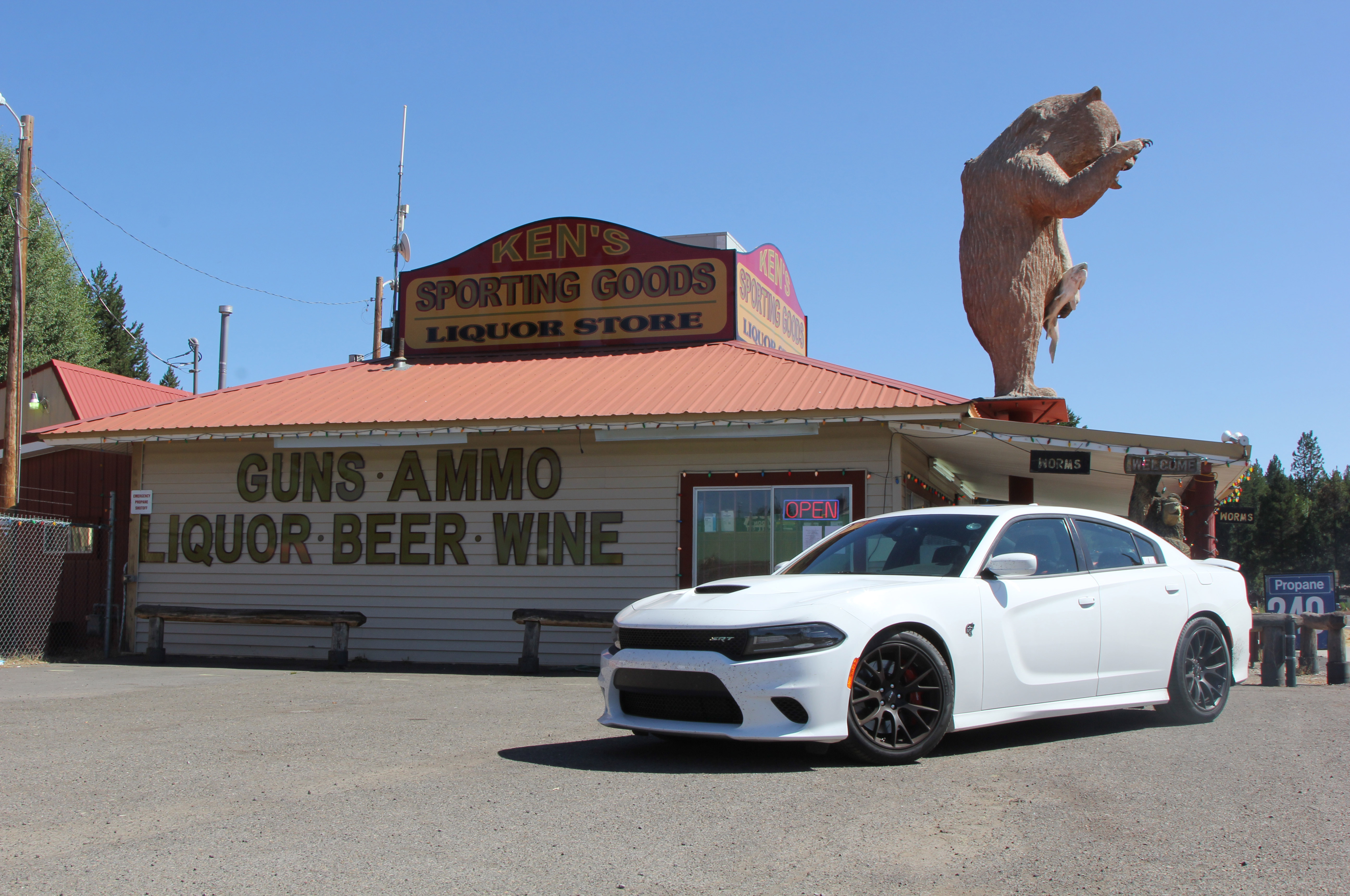 Beer, funs, ammo, wine, worms, whatever you need, Ken's Sporting Goods had it.