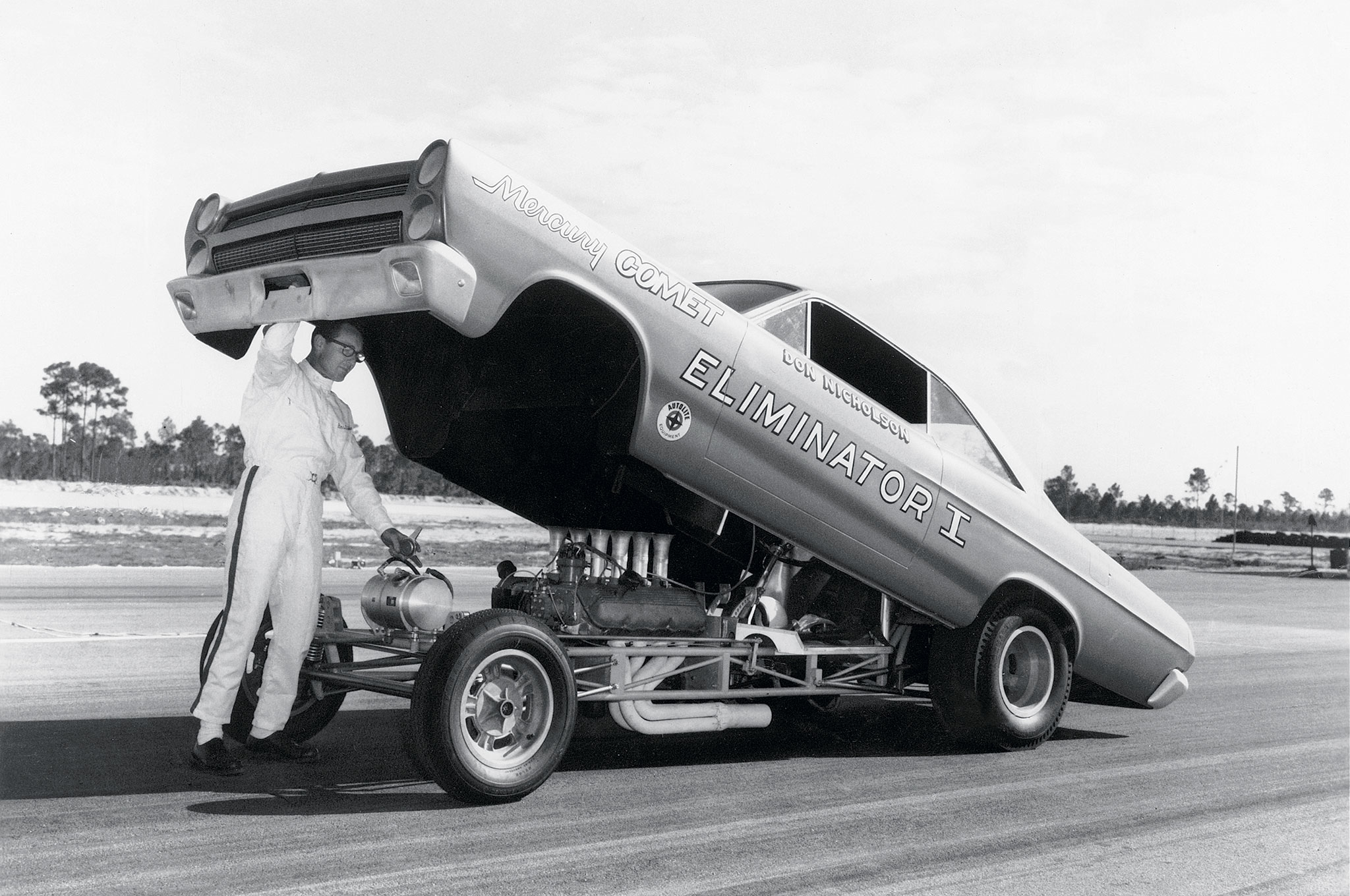 In August 1966, Dyno drove his injected, SOHC-powered Eliminator I Mercury Comet to an 8.29, 170.12-mph pass against Maynard Rupp at National Trail Raceway in Columbus, Ohio. At the time, it was the fastest pass by a stock-bodied car in NHRA history. Dyno was virtually undefeated in this car for the entire season.