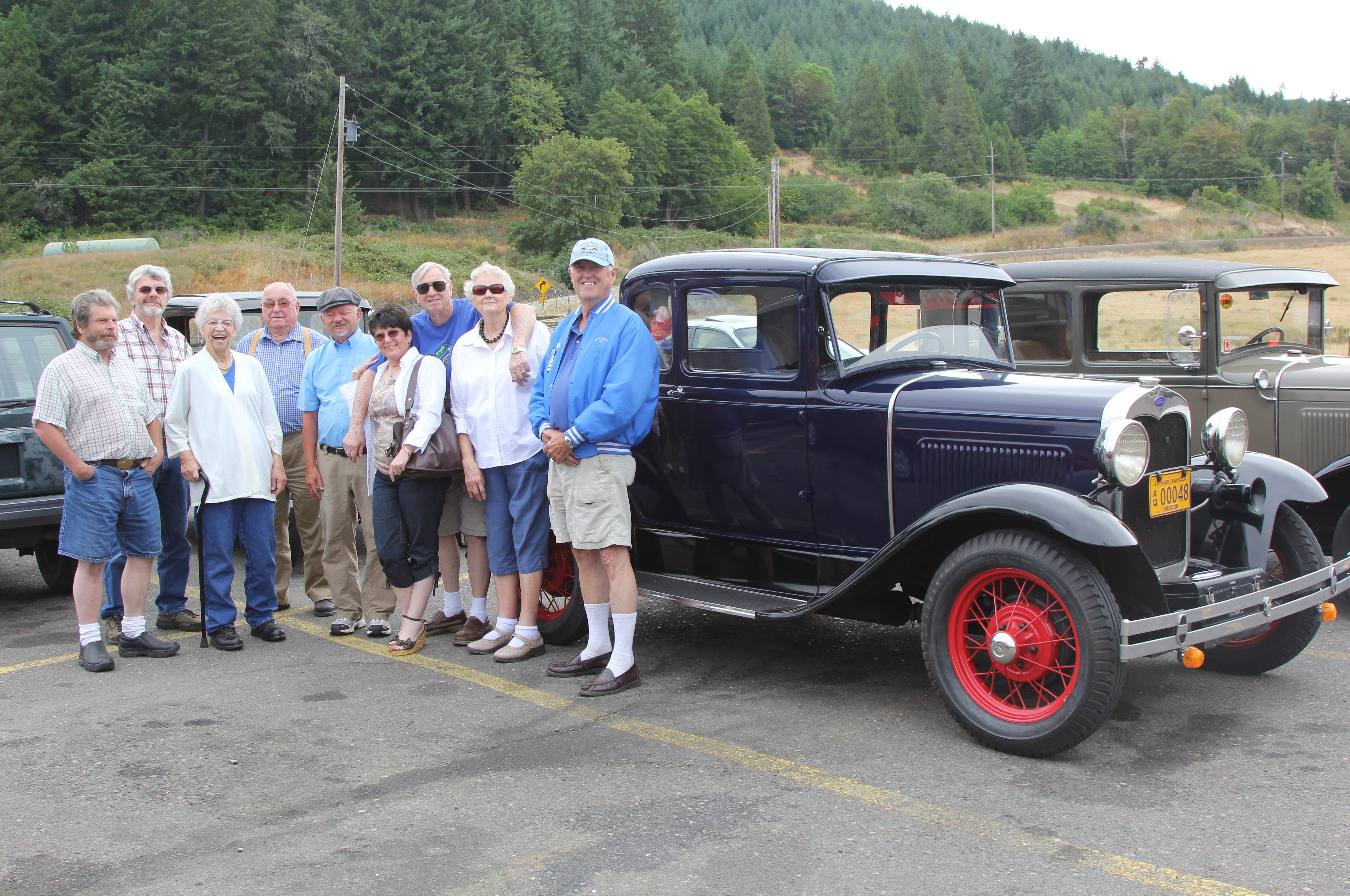 On California's I-5 southbound lane, we ran into a Model A club on a road trip of their own. It's amazing to realize that 80 years ago, a production street car would be pushing it to get to 60 mph, and now you can buy a family car that can do 200 mph.