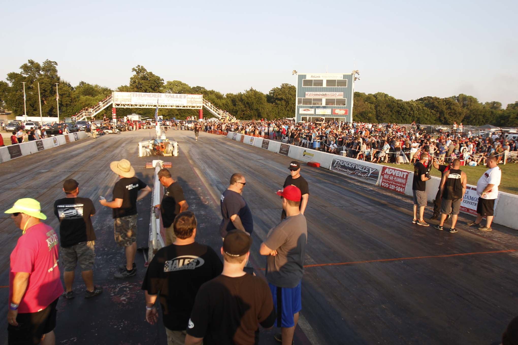 Spectator turnout was impressive for both days of the event. Also note that the starting line for Outlaw Armageddon was not at the track's starting line, adding to the street-race vibe that's becoming more and more popular.