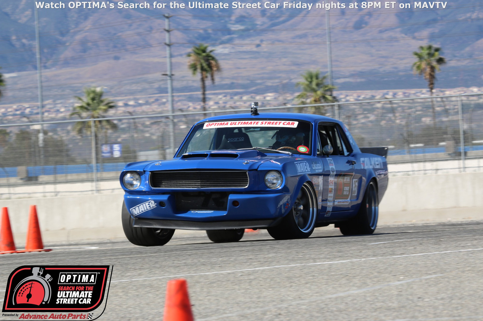 Mike Maier punched his ticket to the SEMA Show and OUSCI early in the season, but used the Fontana event as an opportunity to dial in his '66 Mustang, while sizing up his potential competition in Las Vegas.