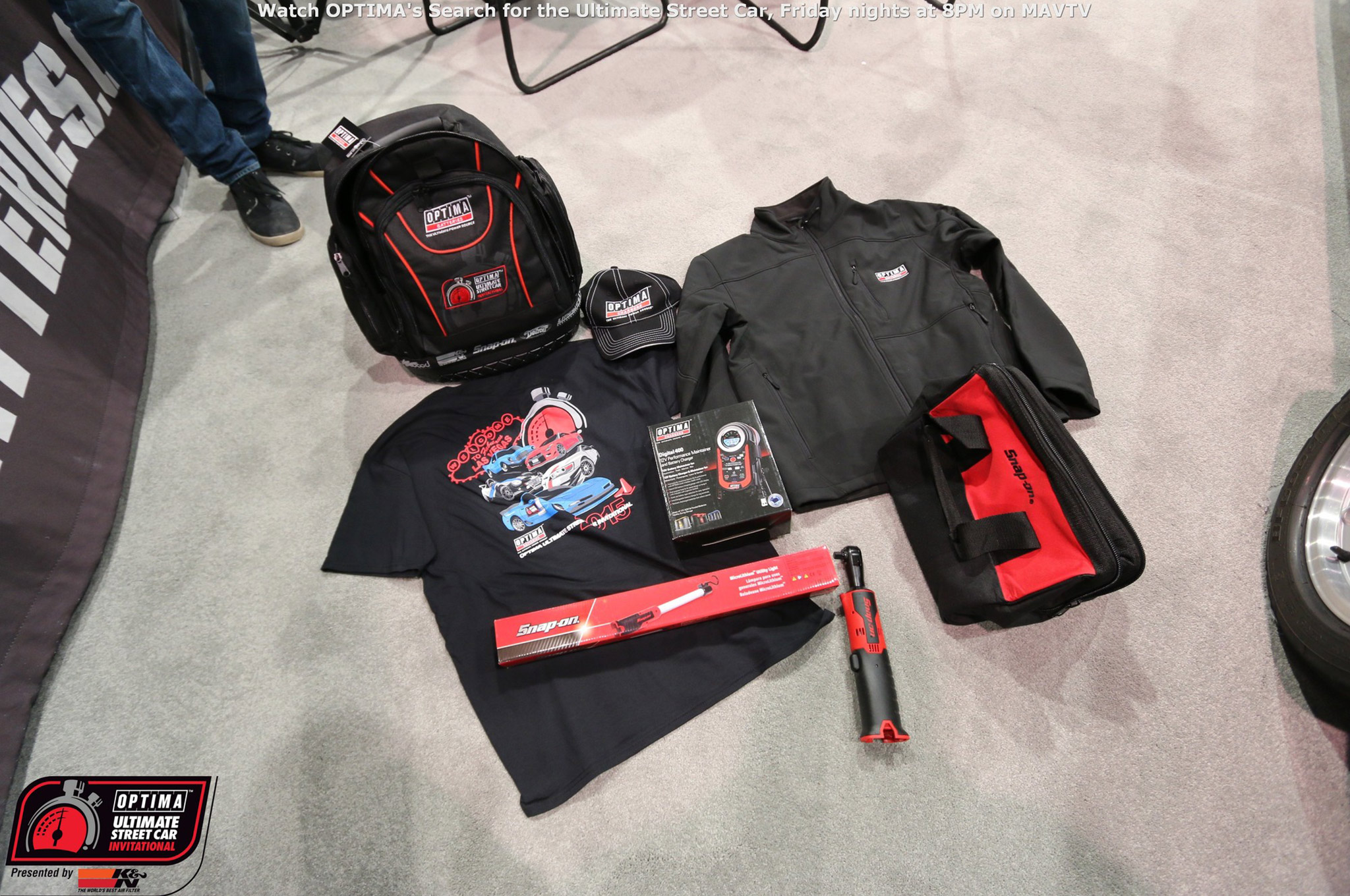 There is no monetary reward for winning the OUSCI and bringing a car to SEMA costs thousands of dollars, so why do competitors do it? It's a bucket list for many, but there are also sponsor perks. Those who have competed in the event for multiple years are beginning to fill their tool chests with some awesome Snap-On tools and OPTIMA provides plenty of other gear as well.