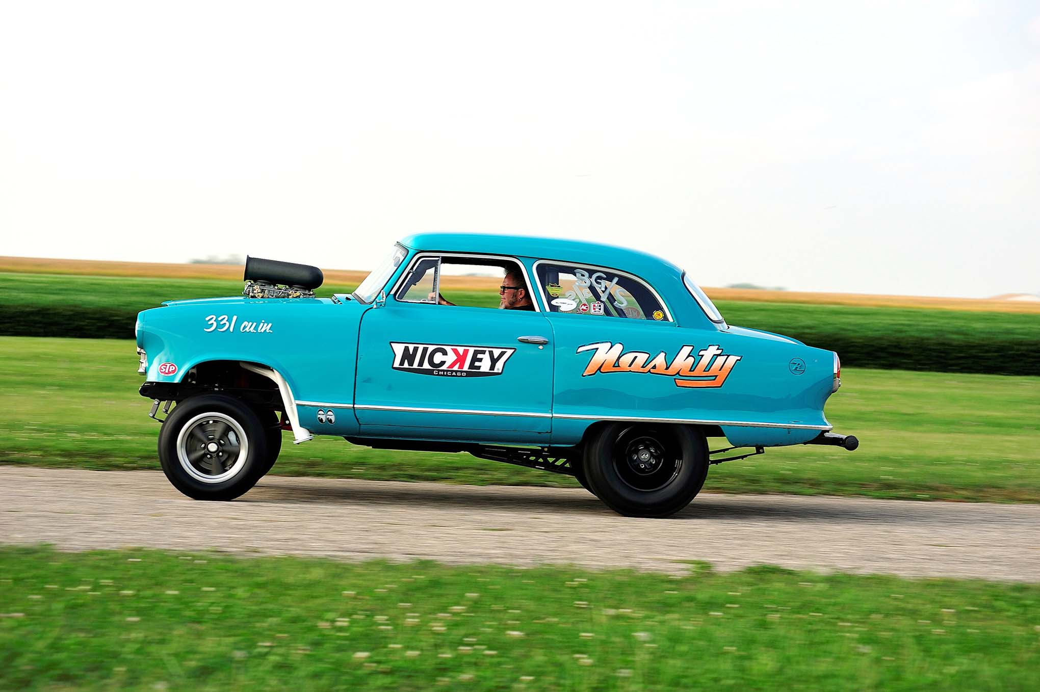 Pretty as she is, Nashty is no static piece of garage art. Nickey's one-of-a-kind Nash will haul when given the chance. Tinberg plans to run the car at the 2016 Meltdown Drags.