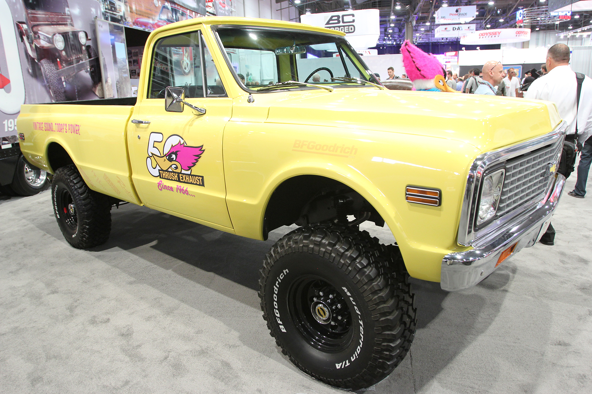 There are several really nice old GM trucks of this vintage at the 2015 SEMA Show, but there was just something about this '72 K20 owned by Dean Bulloch that sucked us in. The truck has a great story. It was given to Dean by his father-in-law, and Dean has meticulously maintained the truck. Among other features the rig has a 396ci big-block engine with a 250hp shot of nitrous.