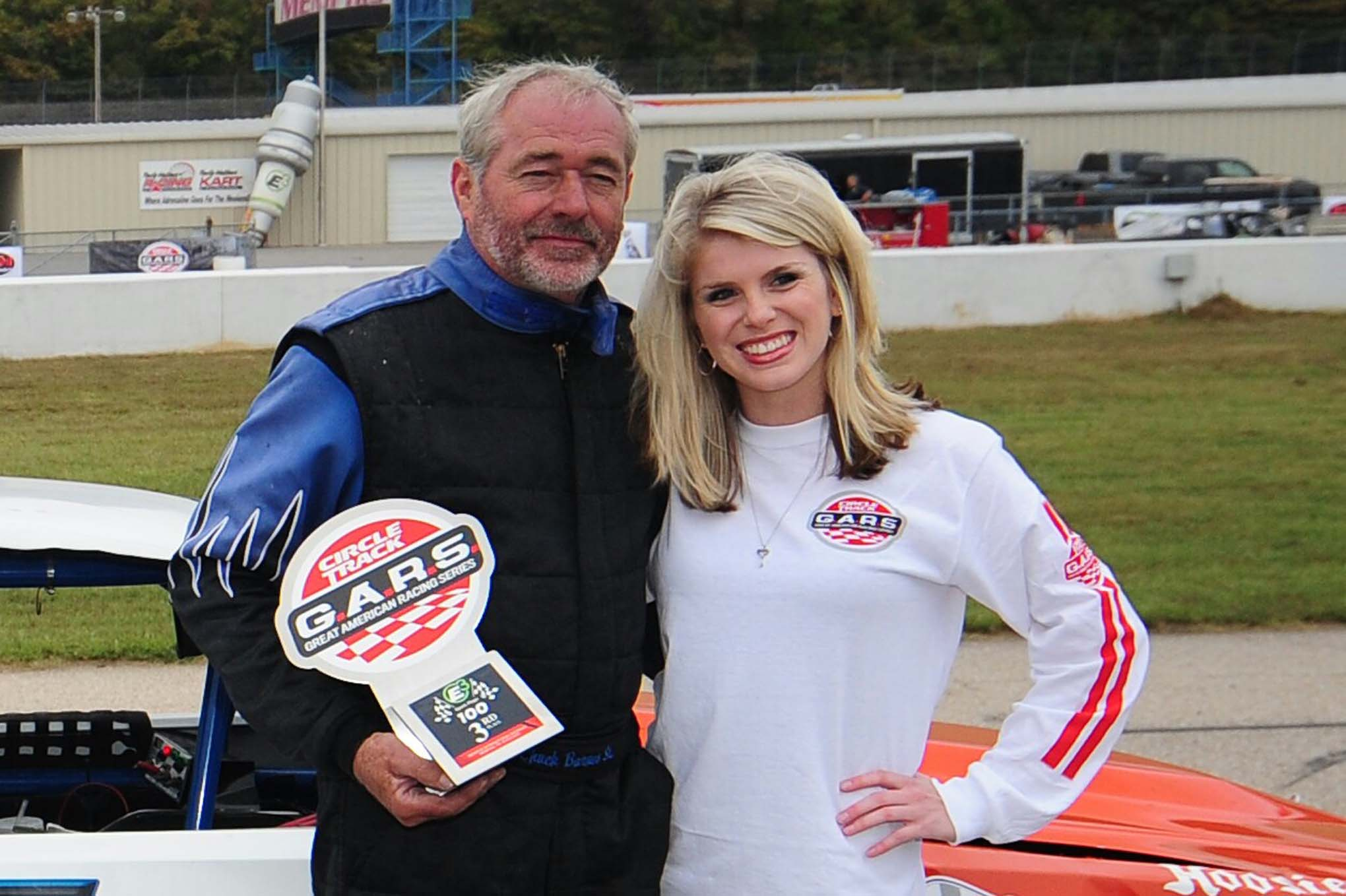 Chuck Barnes, Sr., had an adventurous day. He finished third.
