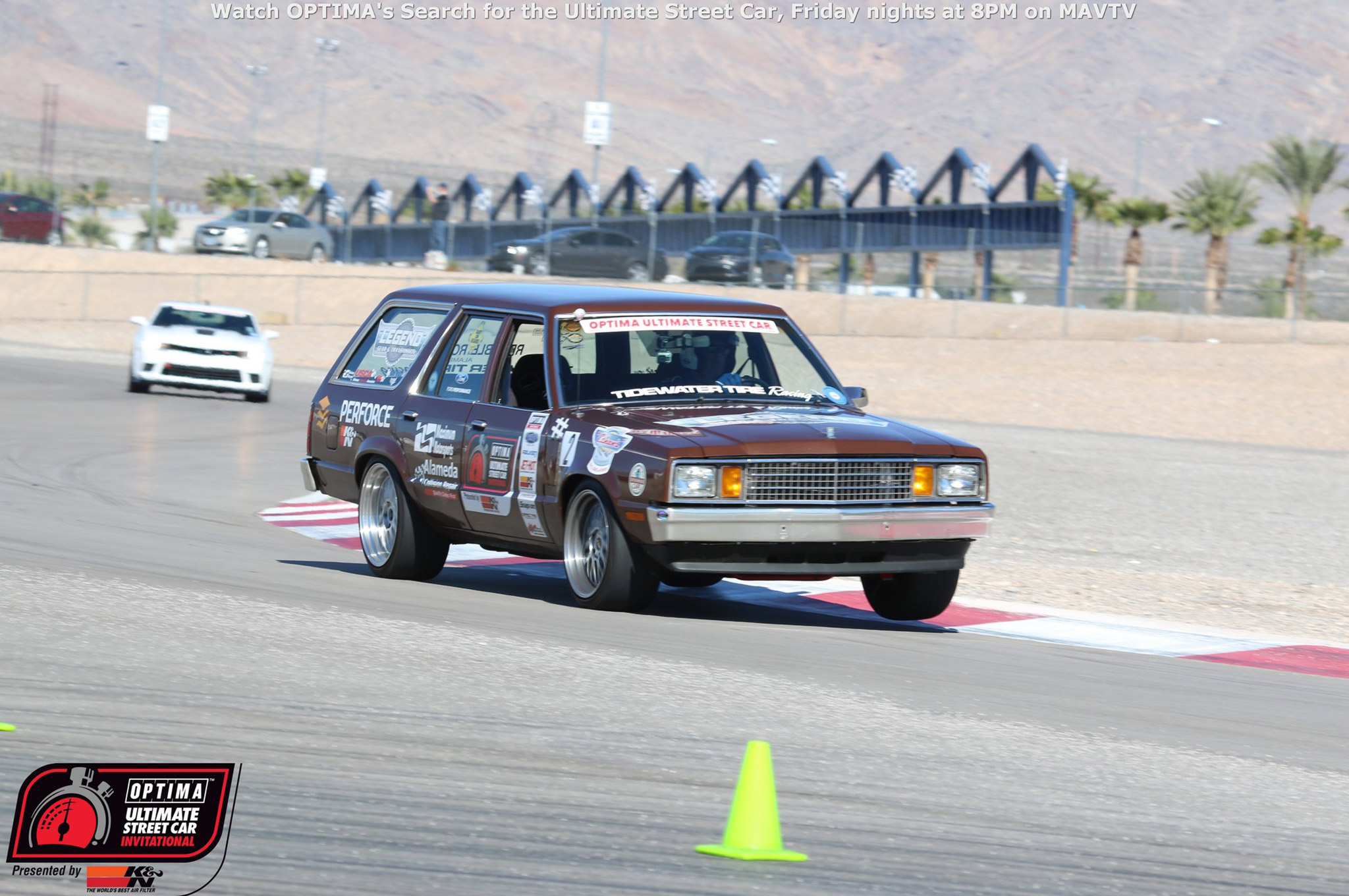 Martin Pond has a thing for four-eyed Fox body-era Fords. He competed in the 2014 OUSCI with a 1980 Ford Fairmont, but returned in 2015 with a bigger, browner stick. His '80 Mercury Zephyr features a 427 Cobra Jet crate engine, mated to an LGT-700 transmission and weighs in at less than 3,200 pounds. That helped him shave more than three seconds off his best lap time from 2014.