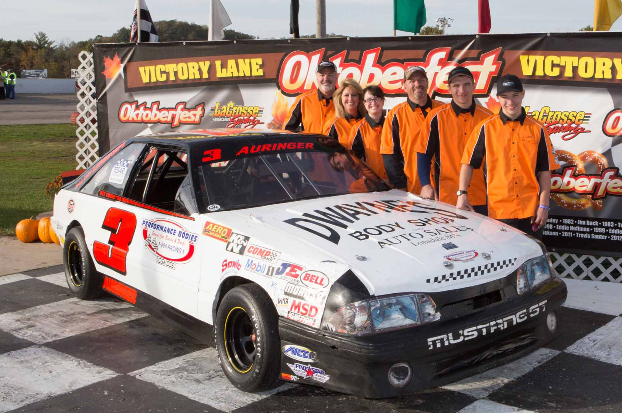Minnesota's Dave Auringer and team (pictured) were present when the Midwest Dash Series debuted at Oktoberfest Race Weekend one month ago. The Midwest Dash Series and the South East Mini Stock Tour will give Four Cylinder drivers a chance to do some traveling in 2016. (Bruce Nuttleman Photo)