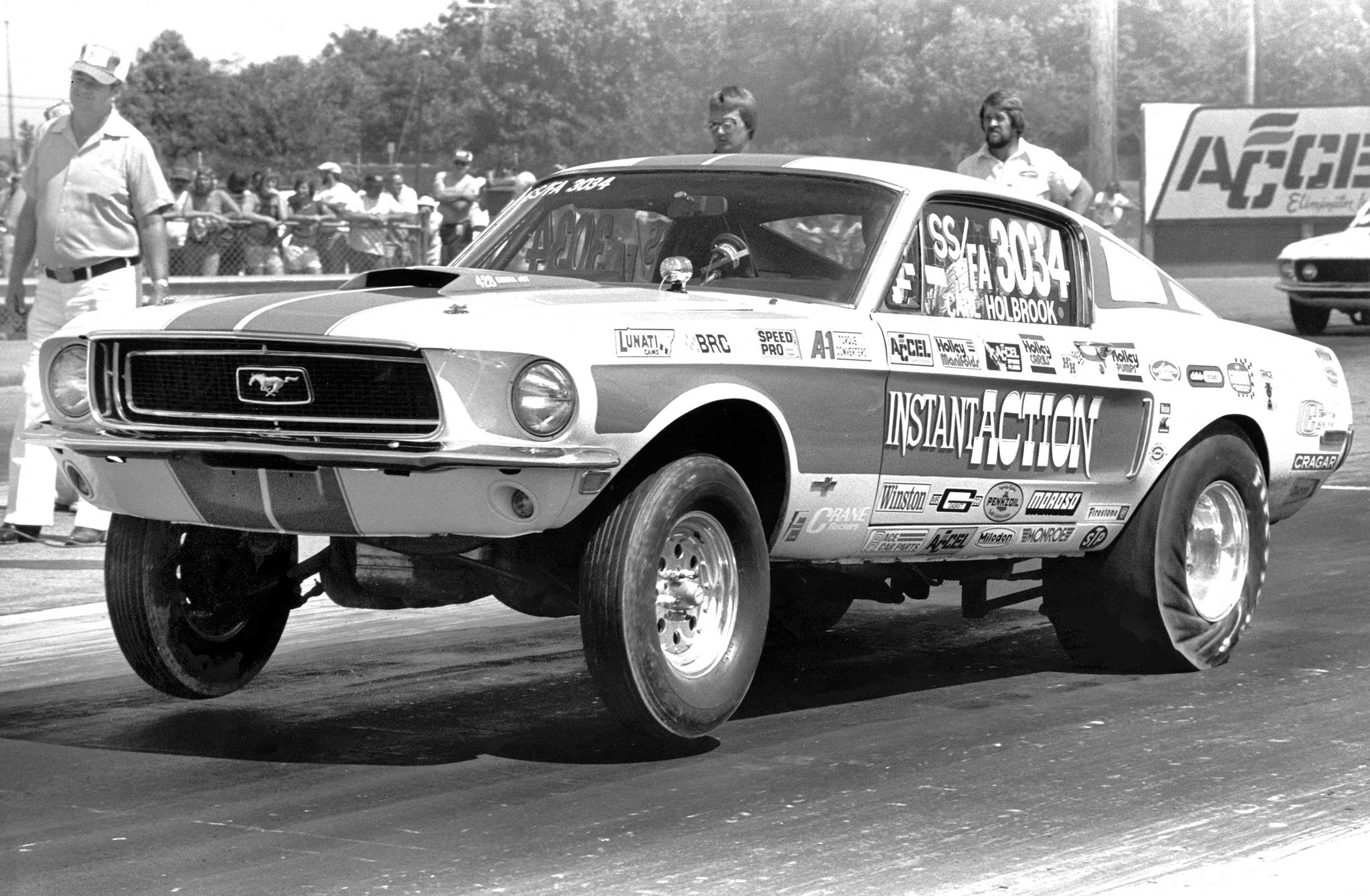 Carl Holbrook began racing on the East Coast and then moved to Detroit in the 1960s. This 428 Cobra Jet set several NHRA class records. Holbrook's son, Chris, continues Carl's legacy with a busy race car and engine shop in the Detroit area.