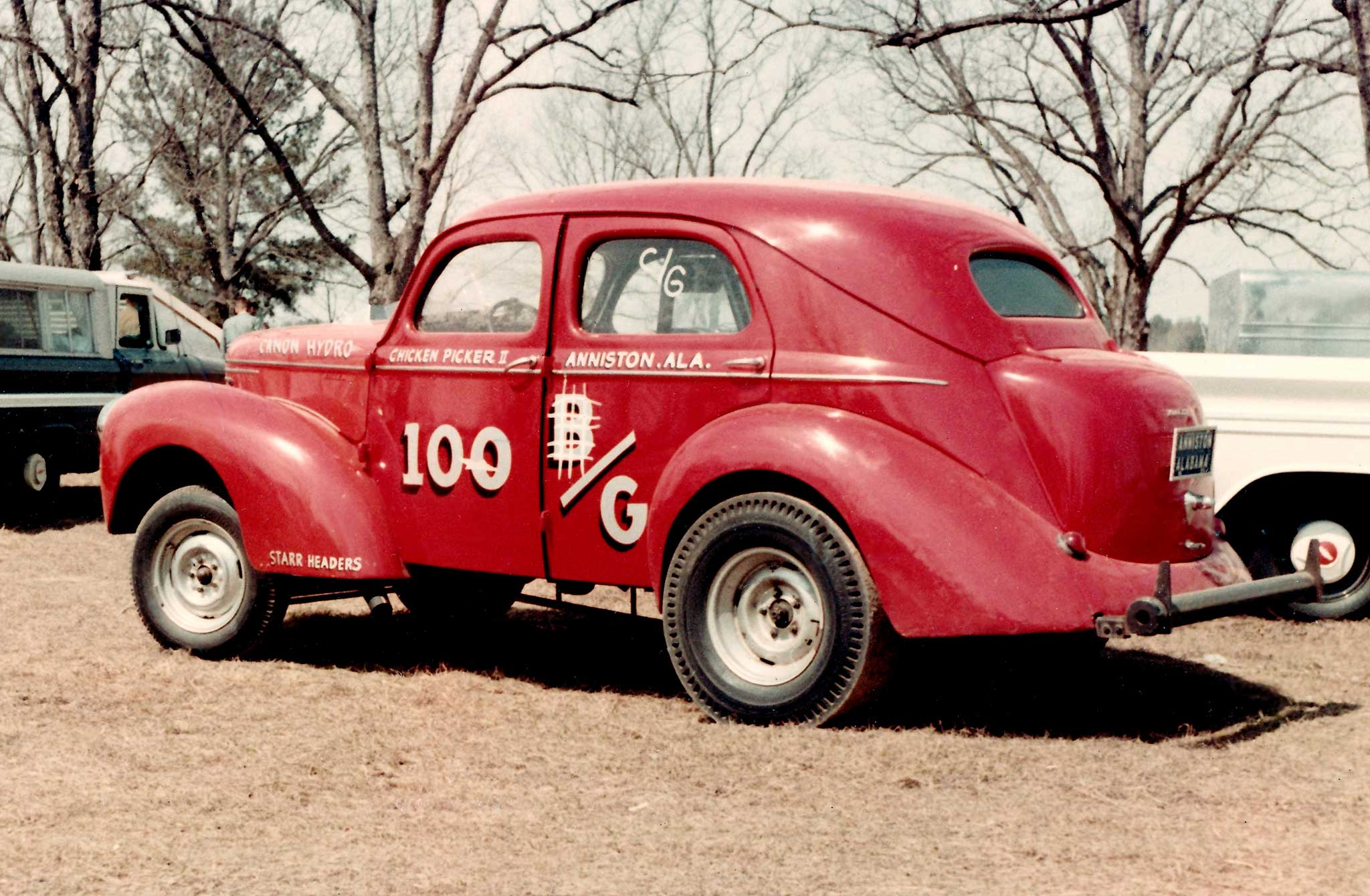 M.A. Madden and son, Bill, gained a national reputation with their homebuilt 1940 Willys sedan out of Anniston, Alabama. Dubbed The Chicken Pickers (Madden owned a poultry farm and processer), the '40 ran as a Gasser and in D/Altered, and was an NHRA record-holder and serious threat at any race.