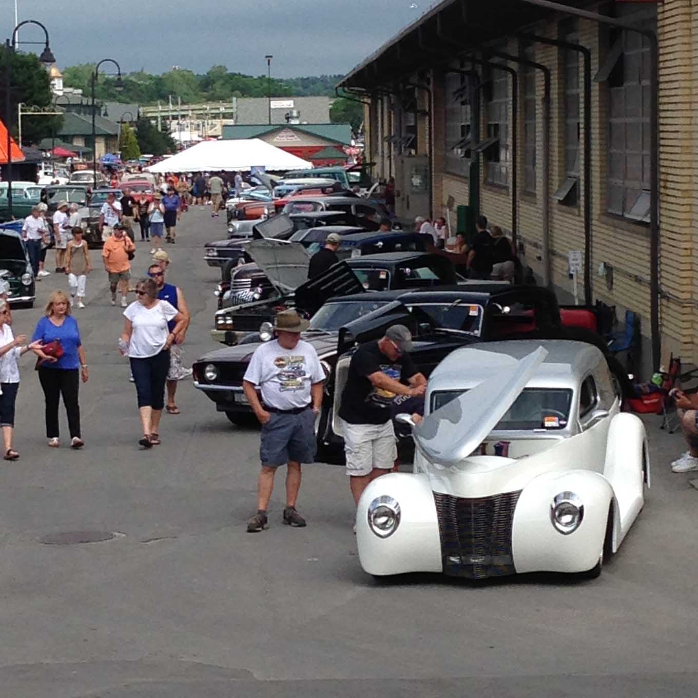 Participants and spectators covered the New York State Fairgrounds during the Syracuse Nationals weekend. This year saw a new record of over 8,000 participating vehicles and great weather brought out huge spectator crowds.