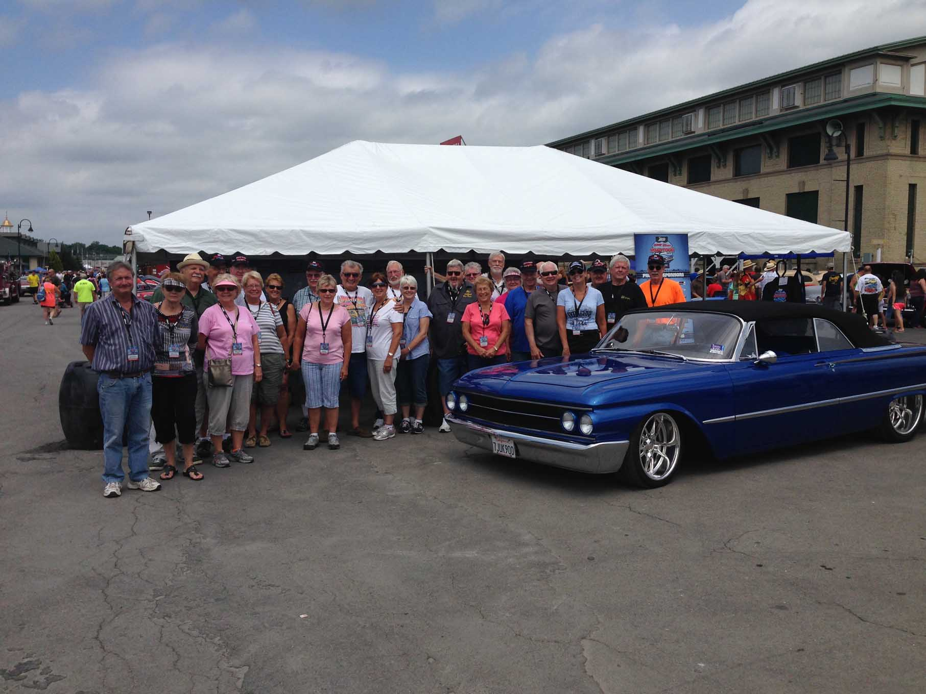 We had a great turnout of folks to participate in the Eastwood Summer Classic Road Tour. We kicked the week off at the Syracuse Nationals. Our ultimate destination for the following weekend was the Eastwood Summer Classic in Pottstown, PA.