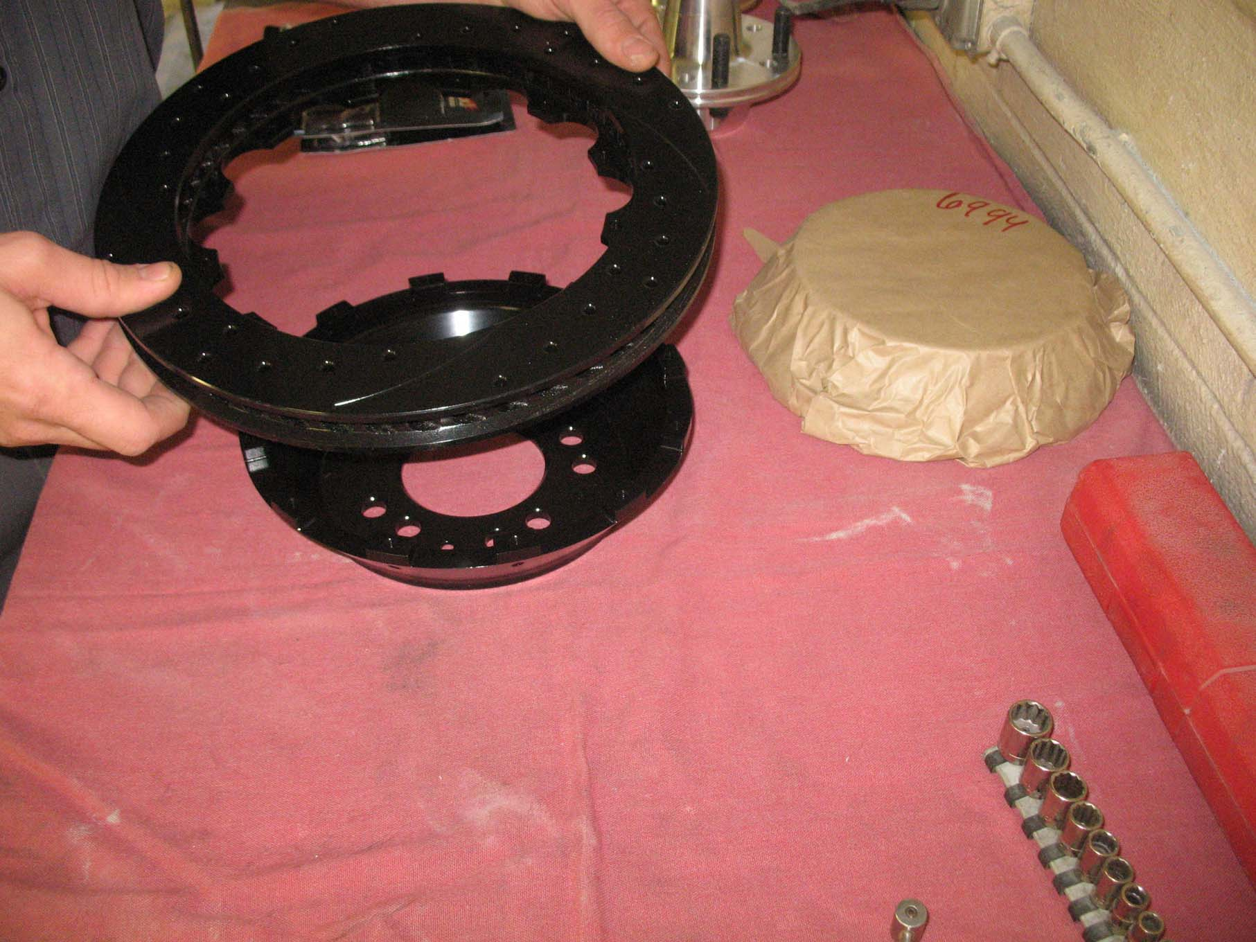 The Wilwood rotors are comprised of two parts, the disc and the hat.