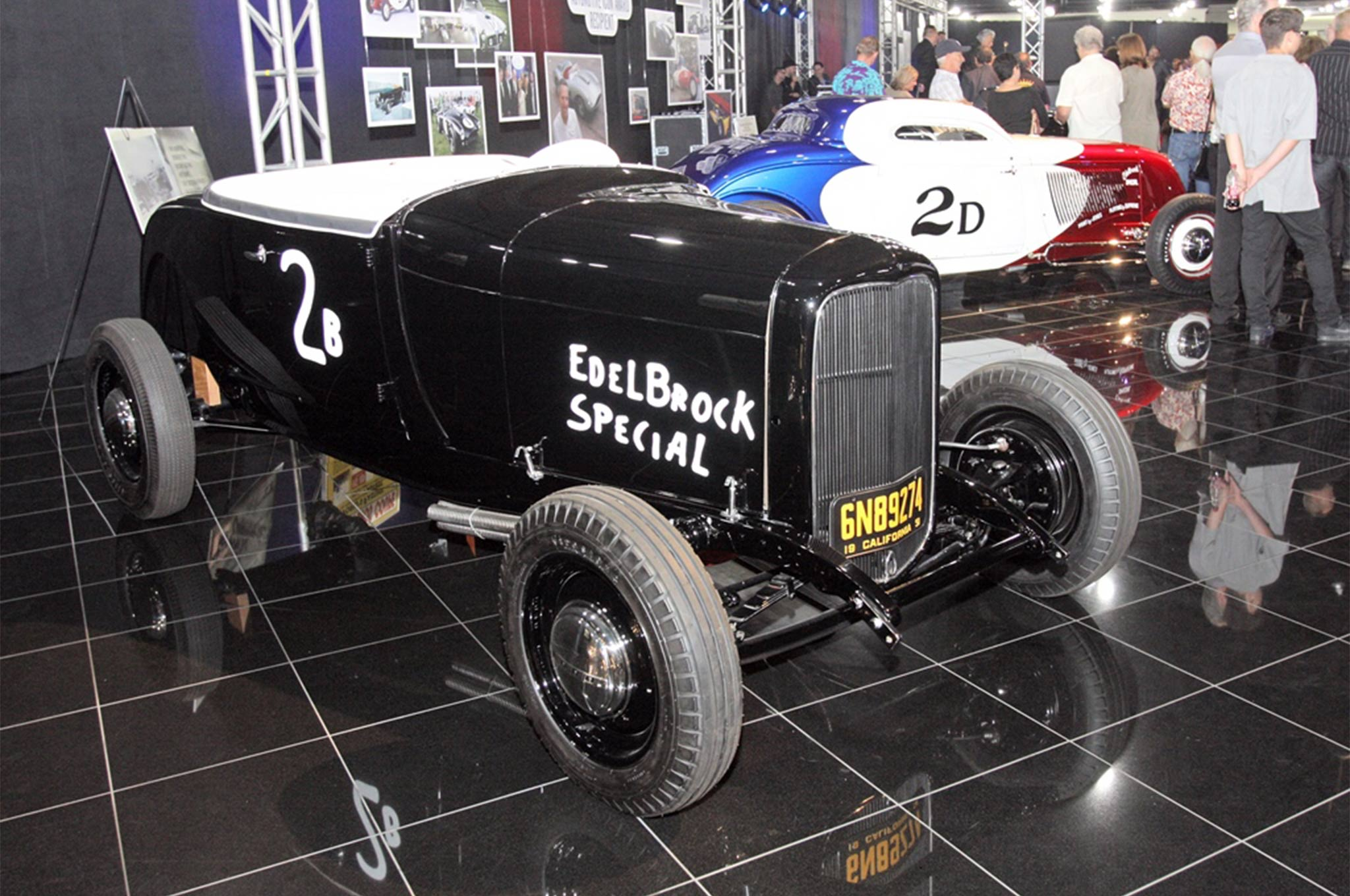 Bill Likes built and raced the Edelbrock Special 1932 Ford roadster, another significant part of hot rod history from the dry lakes. It's now restored and part of Bruce Meyer's collection.
