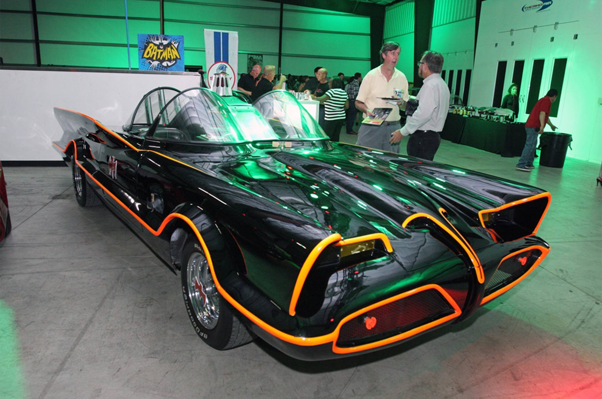 The best Batmobile ever, created by the late George Barris for the '60s TV series, was among many other cars on display at GAS.