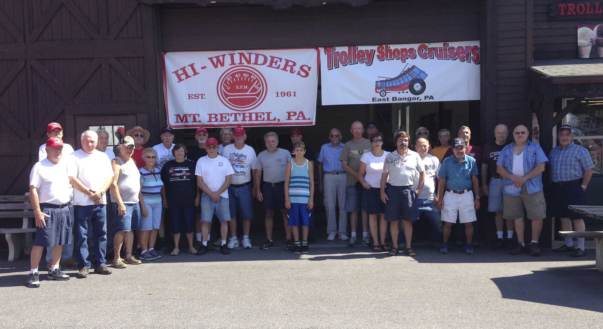 It is always appreciated when local street rodders take time out of their day to greet us at their local cruise spot. Members of the Hi-Winders and the Trolley Shop Cruisers joined us Wednesday at noon at the Trolley Shops for an ice cream social.