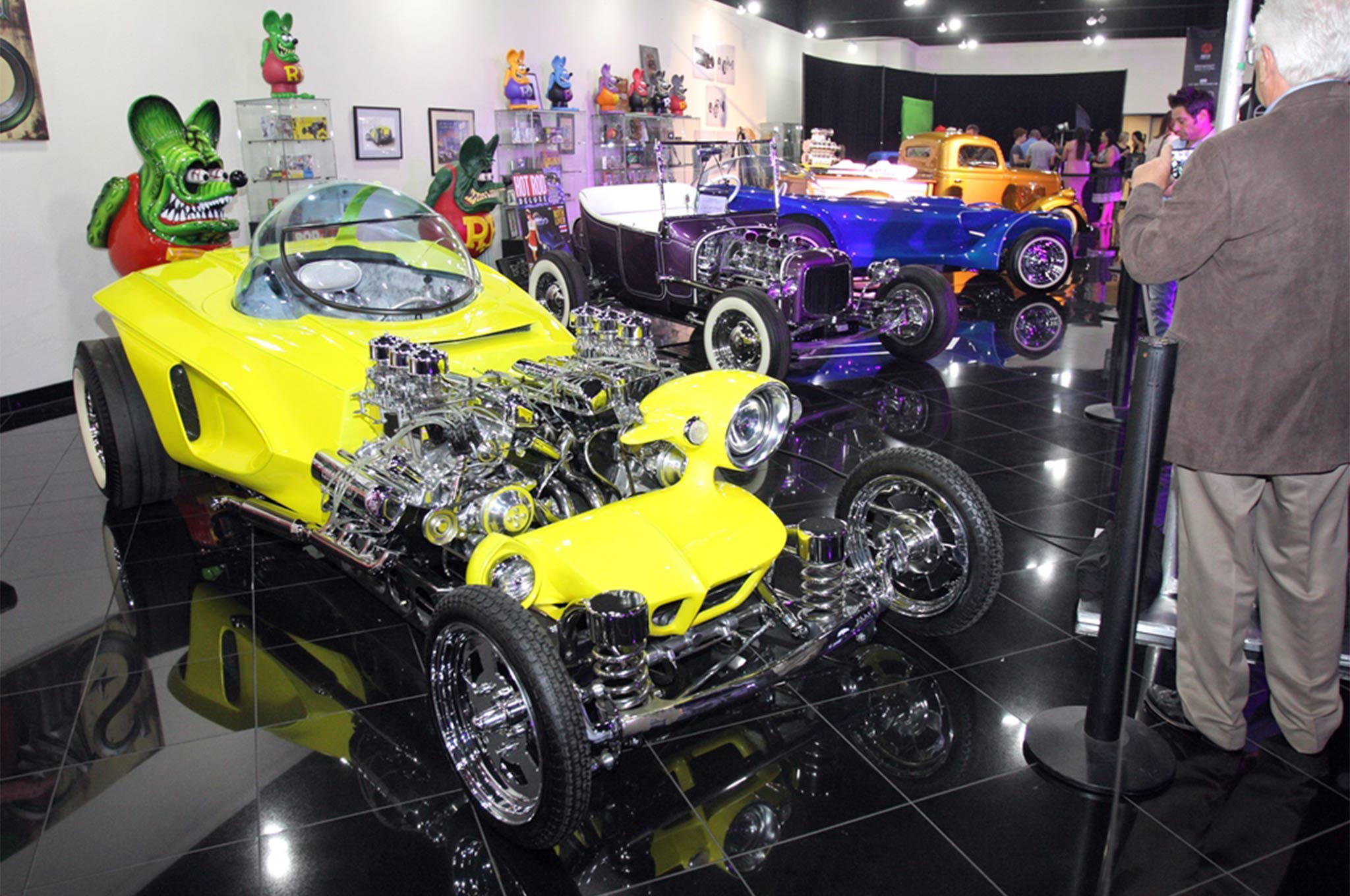 "The Galpin Auto Sports collection contains several Ed ""Big Daddy"" Roth show cars, some originals, some replicas, including the twin-engined Mysterion."