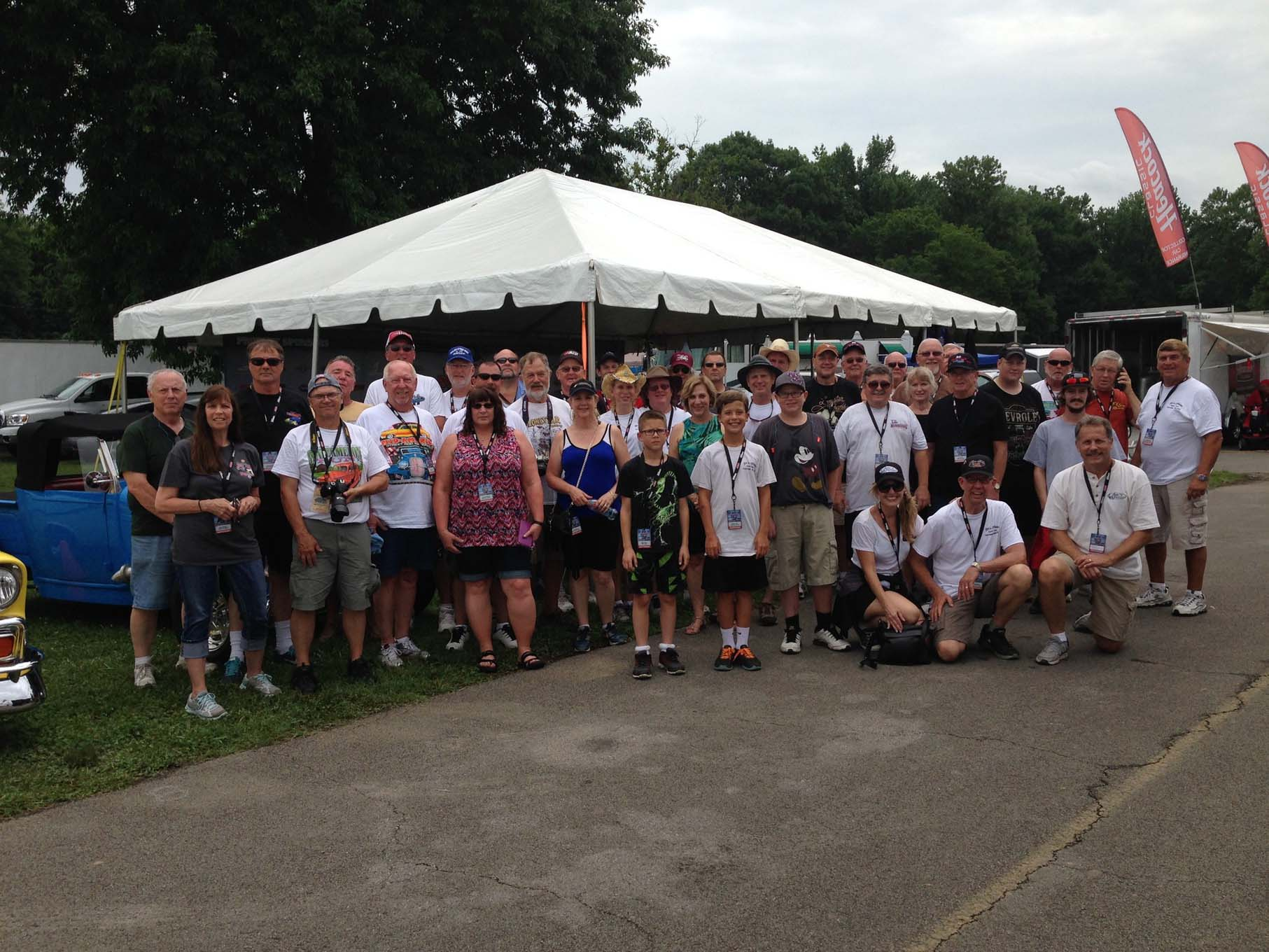 It was a tired but happy throng that gathered for the group photo on Friday afternoon. The Vintage Air Tour is always one of the largest of the season and Jack and Rick have a loyal following from the Lone Star State.
