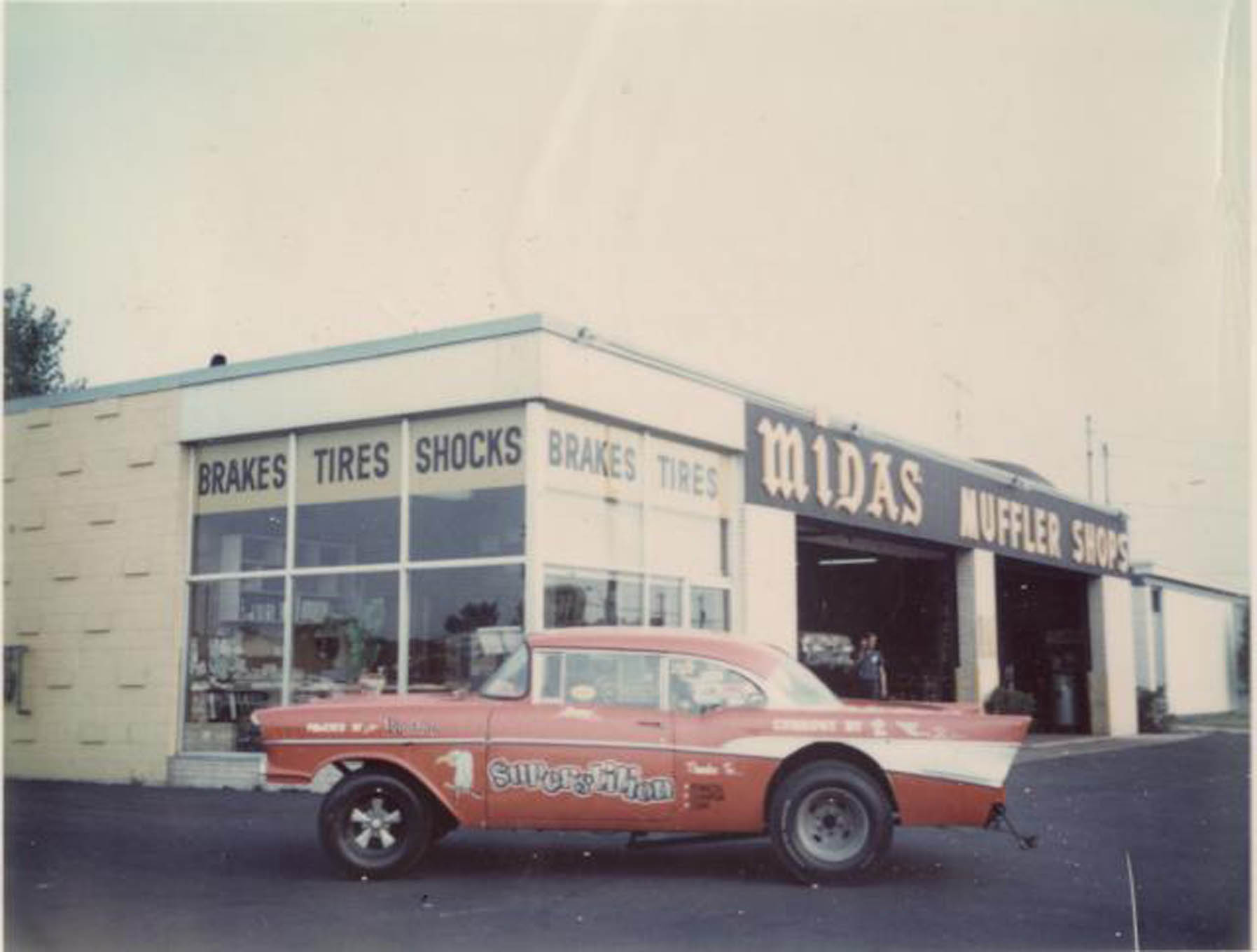 This photo was taken on the day the zoomies were first put on the engine at the Midas muffler shop in Milwaukee, circa 1969-'70.