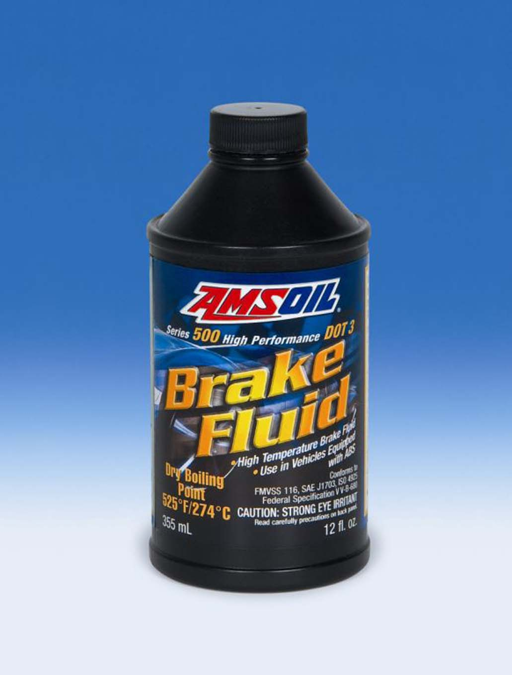 AMSOIL INC. Series 500 High-Performance DOT 3 Brake Fluid and Series 600 High-Performance and Racing DOT 4 Brake Fluid both exceed Federal Motor Vehicle Safety Standard #116 and all requirements of the Department of Transportation (DOT). We used DOT 4.