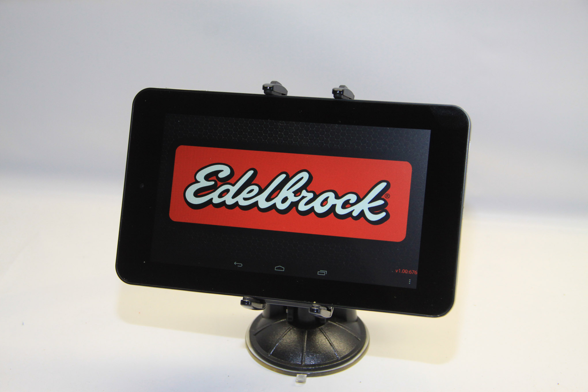 This is the 7-inch touch-screen tablet included with the E-Street System accepts downloadable applications and future upgrades from Edelbrock. There is wireless connectivity between the tablet and ECU via bluetooth.