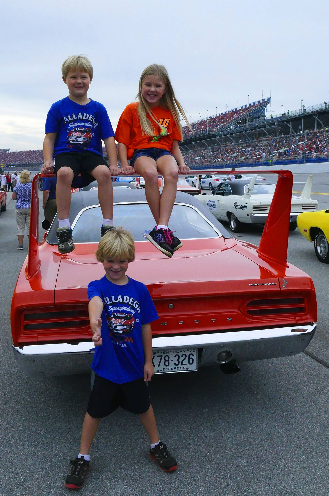 Getting to sit on the wing of a Superbird in front of a Sunday crowd at Talladega, priceless!