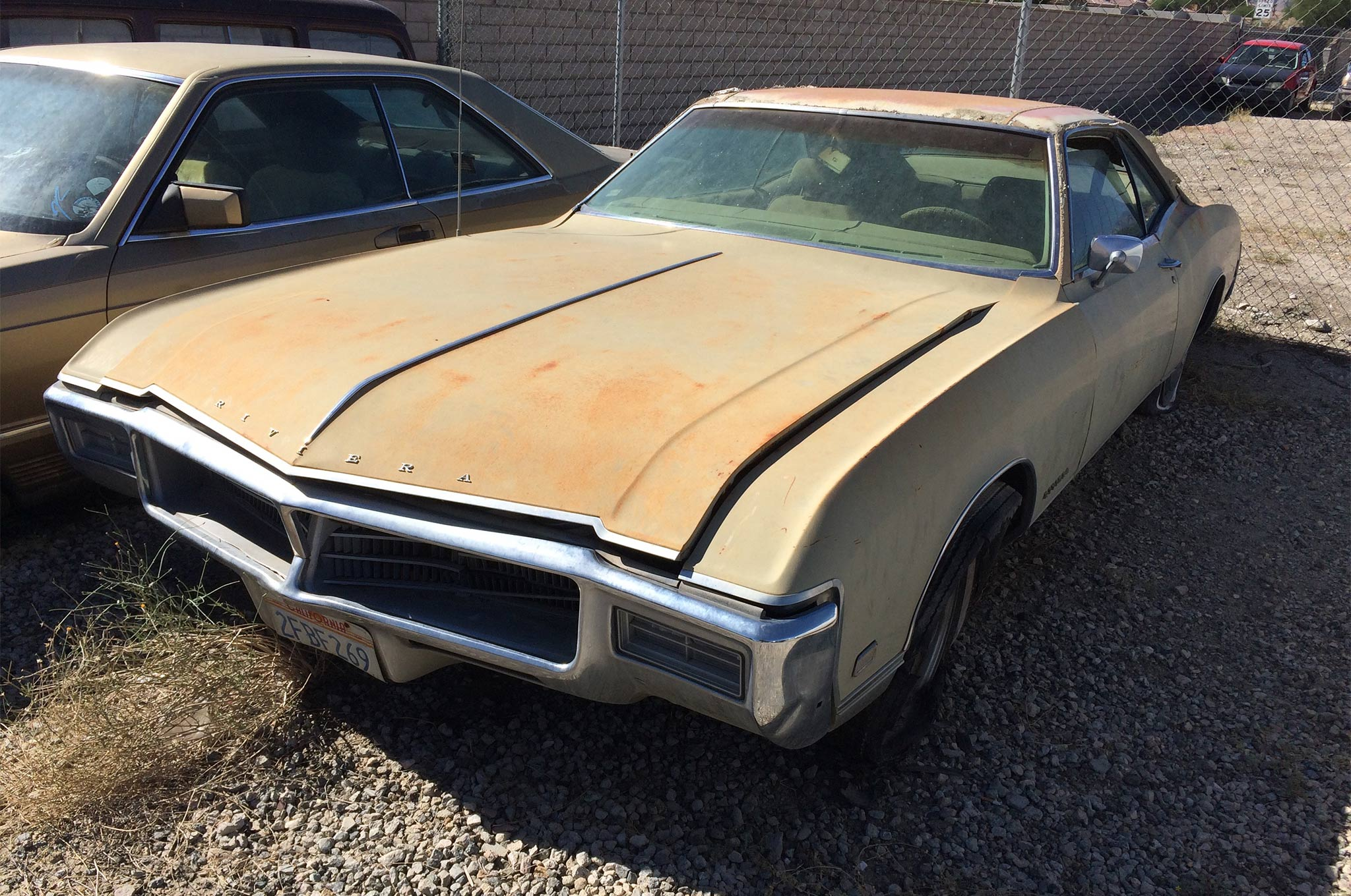 A skilled autobody guy could straighten out the hood and front bumper of this 1968 Riviera and make it into a really cool cruiser. Aside from the cosmetic front-end damage, this car is rock solid. Honestly, we wouldn't even bother to paint it. Drop in a torquey 455 and do block-long burnouts.