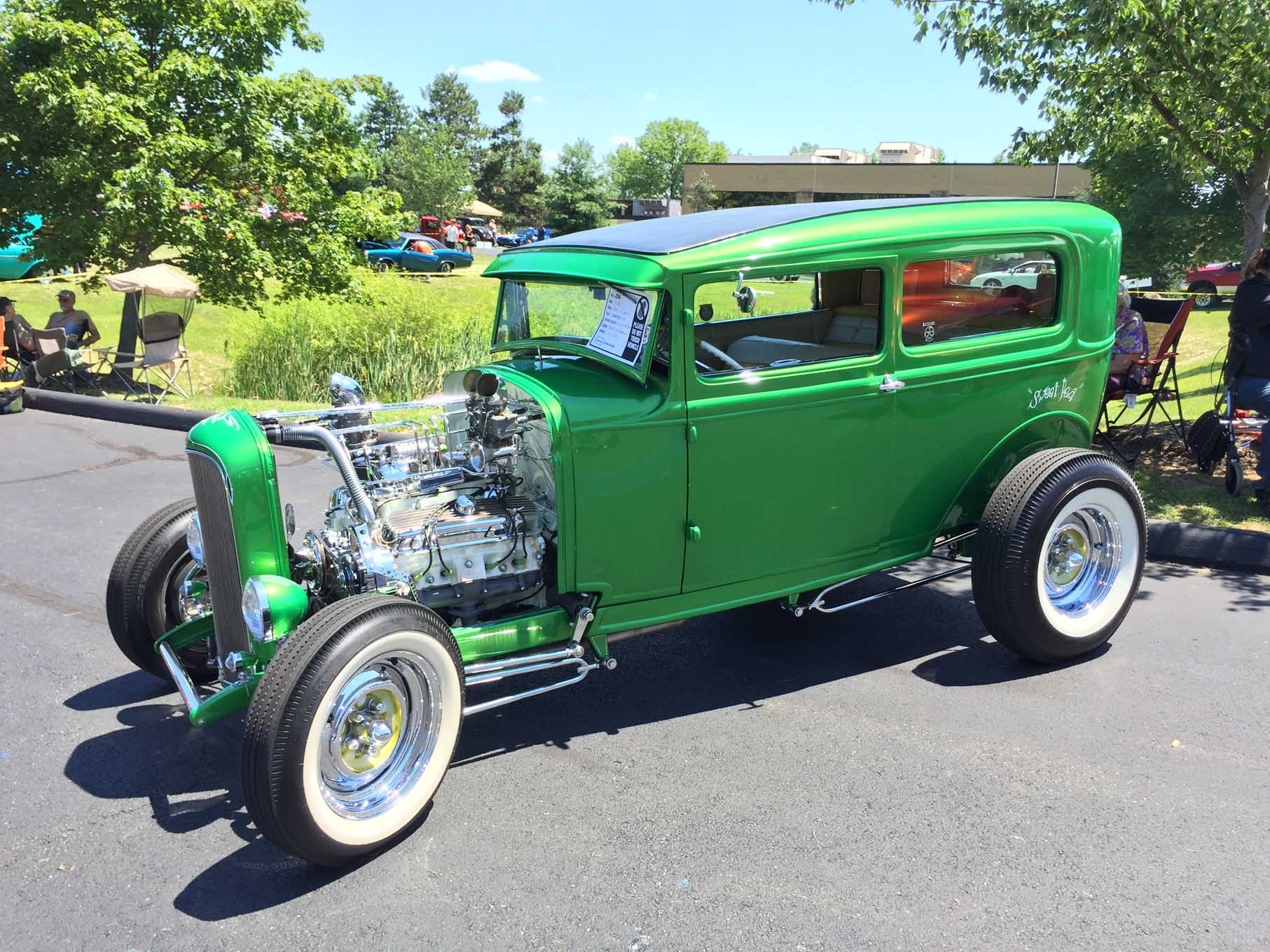 Jim Brady with his 1930 Ford highboy sedan took home STREET RODDER Editor's Choice Award for his Pontiac-powered Model A.