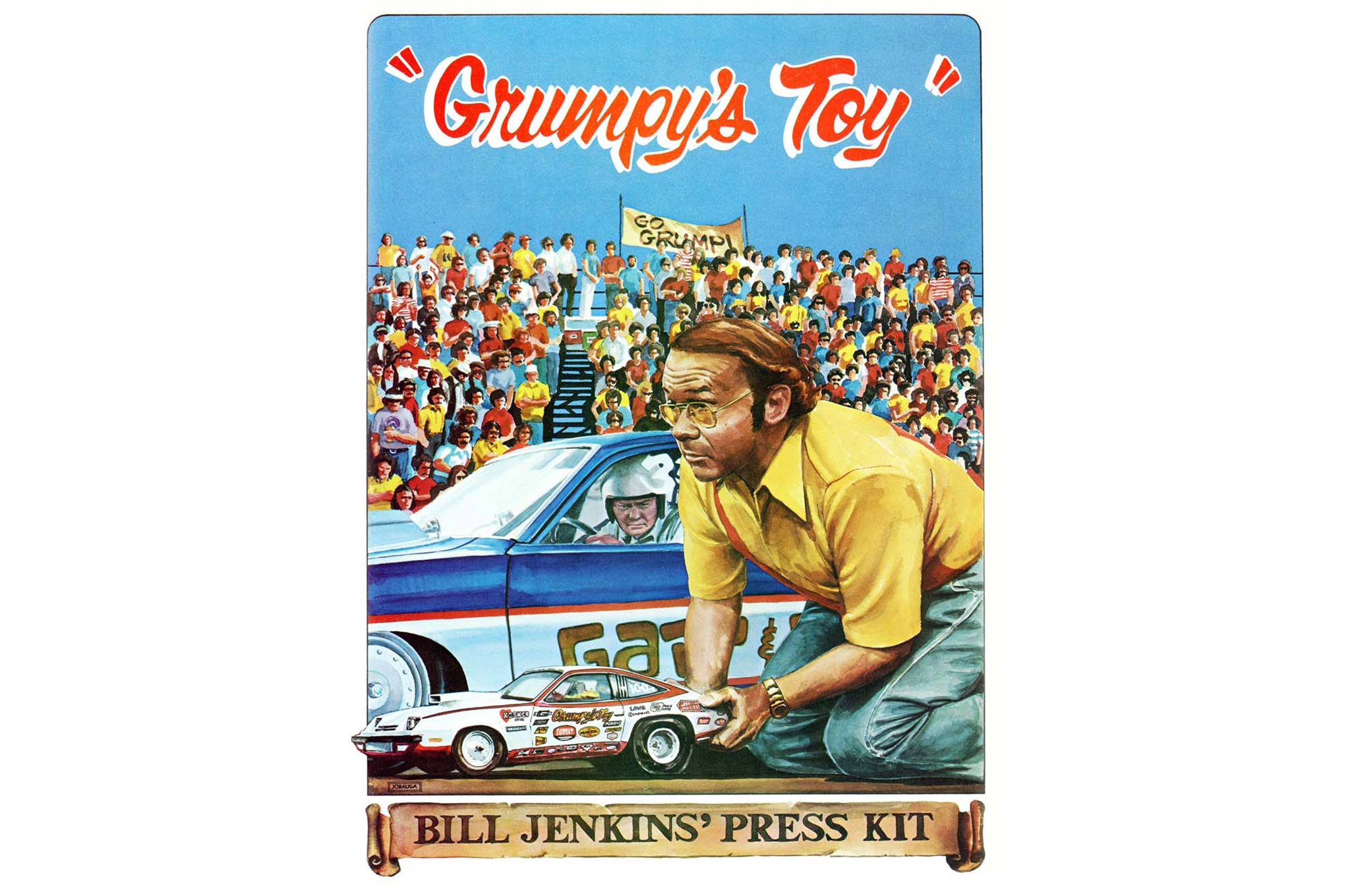 John Jodauga has been creating drag-racing artwork for nearly 50 years, and perhaps the best known examples of his work were the series of press-kit covers that he did for Bill Jenkins during the 1970s.