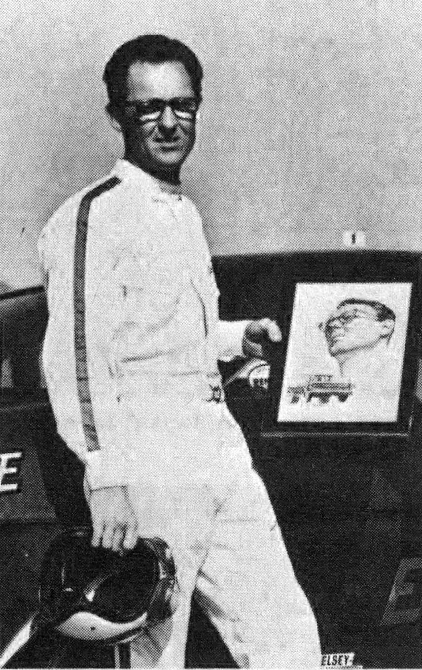 From the onset, one of Jodauga's drag-racing heroes was Don Nicholson. John was thrilled to be asked to do a portrait of Nicholson that was presented to him as Drag Racing magazine's Driver of the Year in 1966.