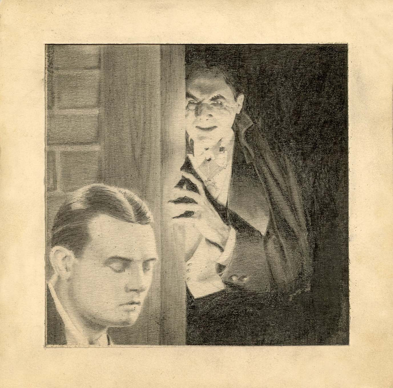 While attending the Art Center College of Design, Jodauga refined his pencil rendering techniques with this illustration of Bela Lugosi's Dracula. It was one of eight drawings that he did for a semester project.