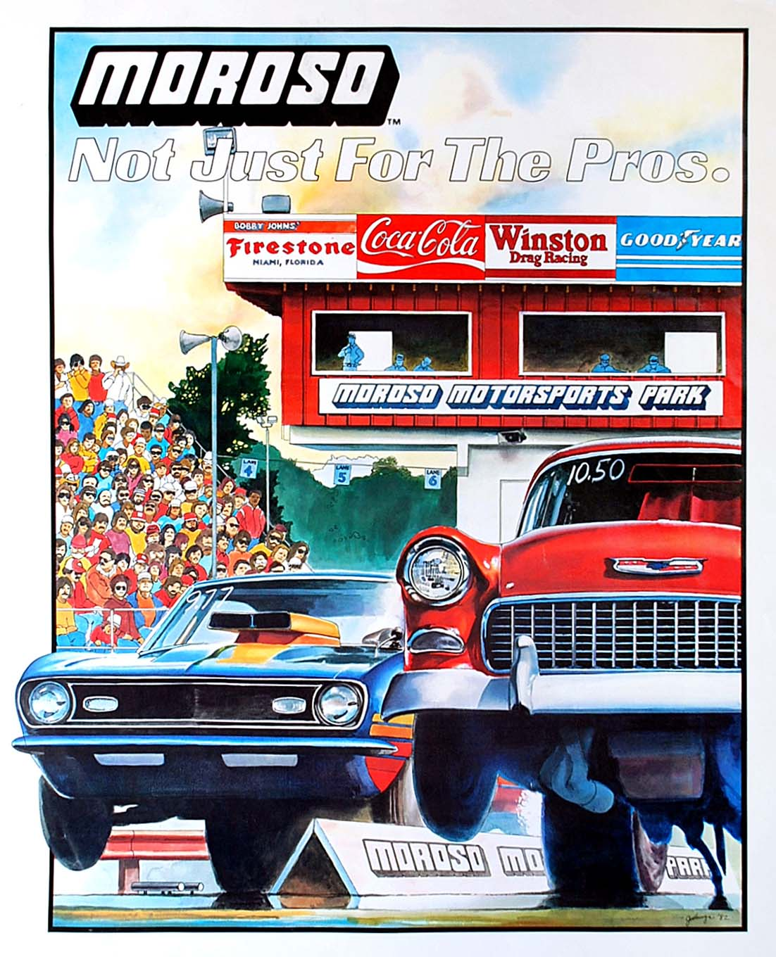 From the late-1970s through the 1980s, Jodauga did several full-page ads for Moroso that ran exclusively in Car Craft, including this one in 1982 promoting the company's Florida-based dragstrip, Moroso Motorsports Park.