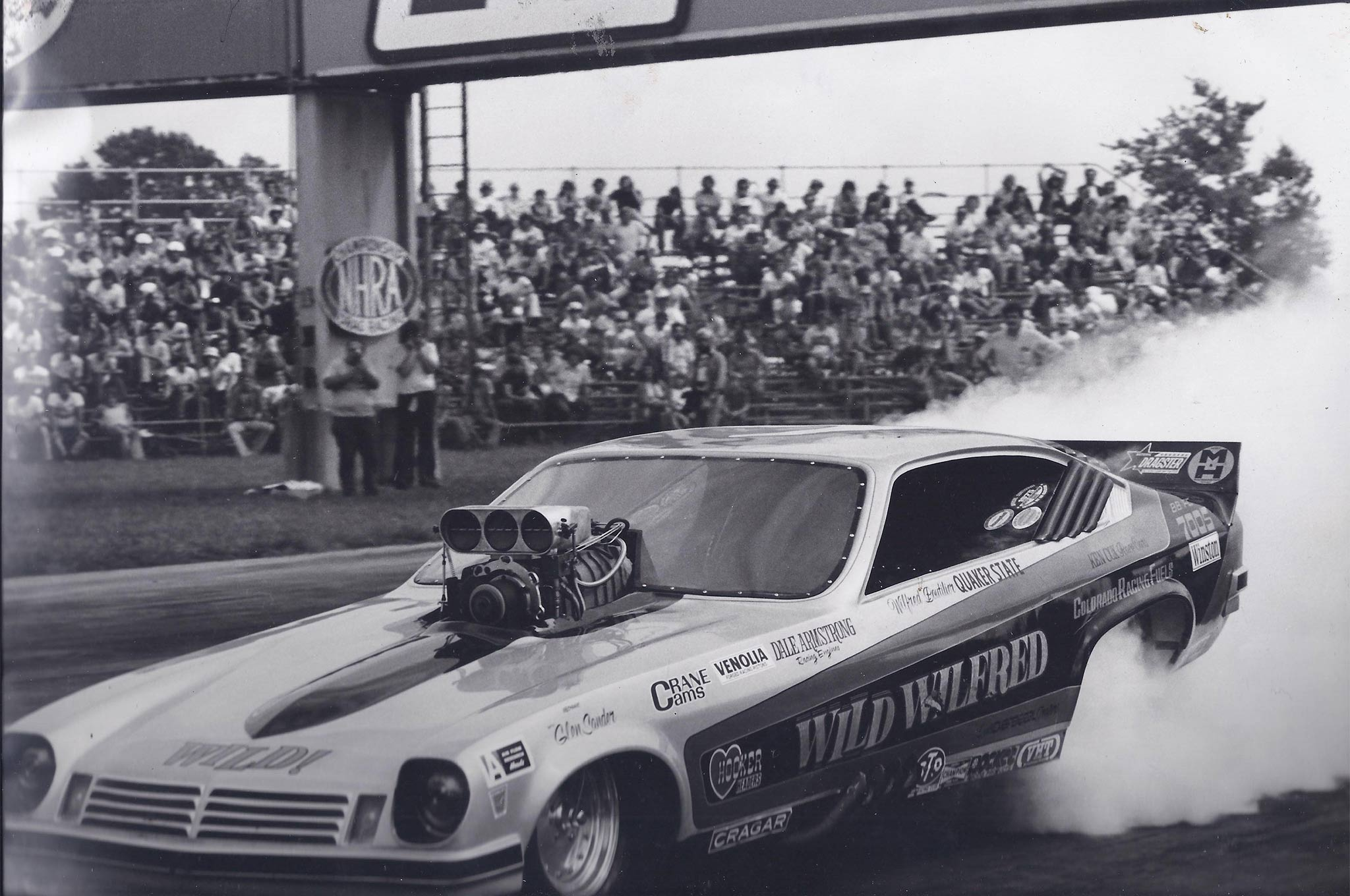 For the 1975 season, Boutilier acquired a new Ken Cox chassis, finishing second to Dale Armstrong at the Sportsnationals, then defeating Armstrong to win the Fallnationals at Seattle.