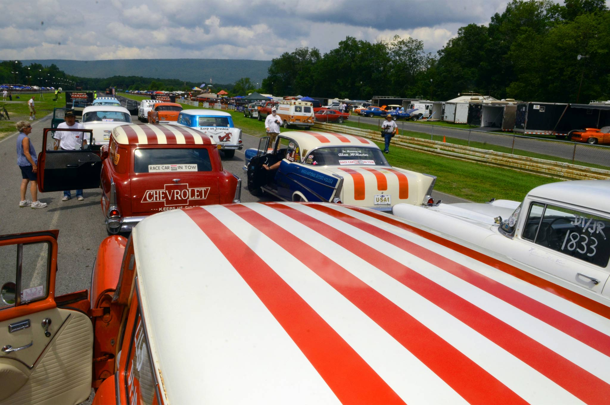 Stripes were in when it came to Division 1 Junior Stocks, and the nation followed suit. The staging lanes on Sunday morning bore witness to a sight that had been missing since the early 1970s.