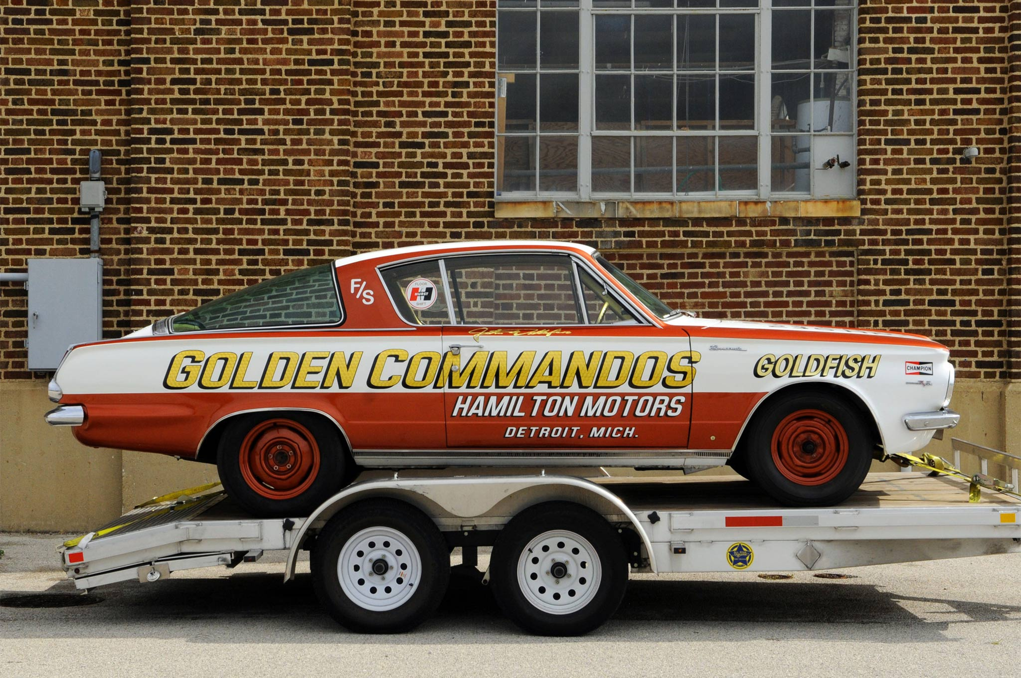 Fish out of water? Not really; the heyday of Junior Stock found not just the classic shoeboxes but some of Detroit's hottest late-models involved. This is the recently completed restoration of the Plymouth-based Golden Commando's team, done by Bruce Lindstrom.