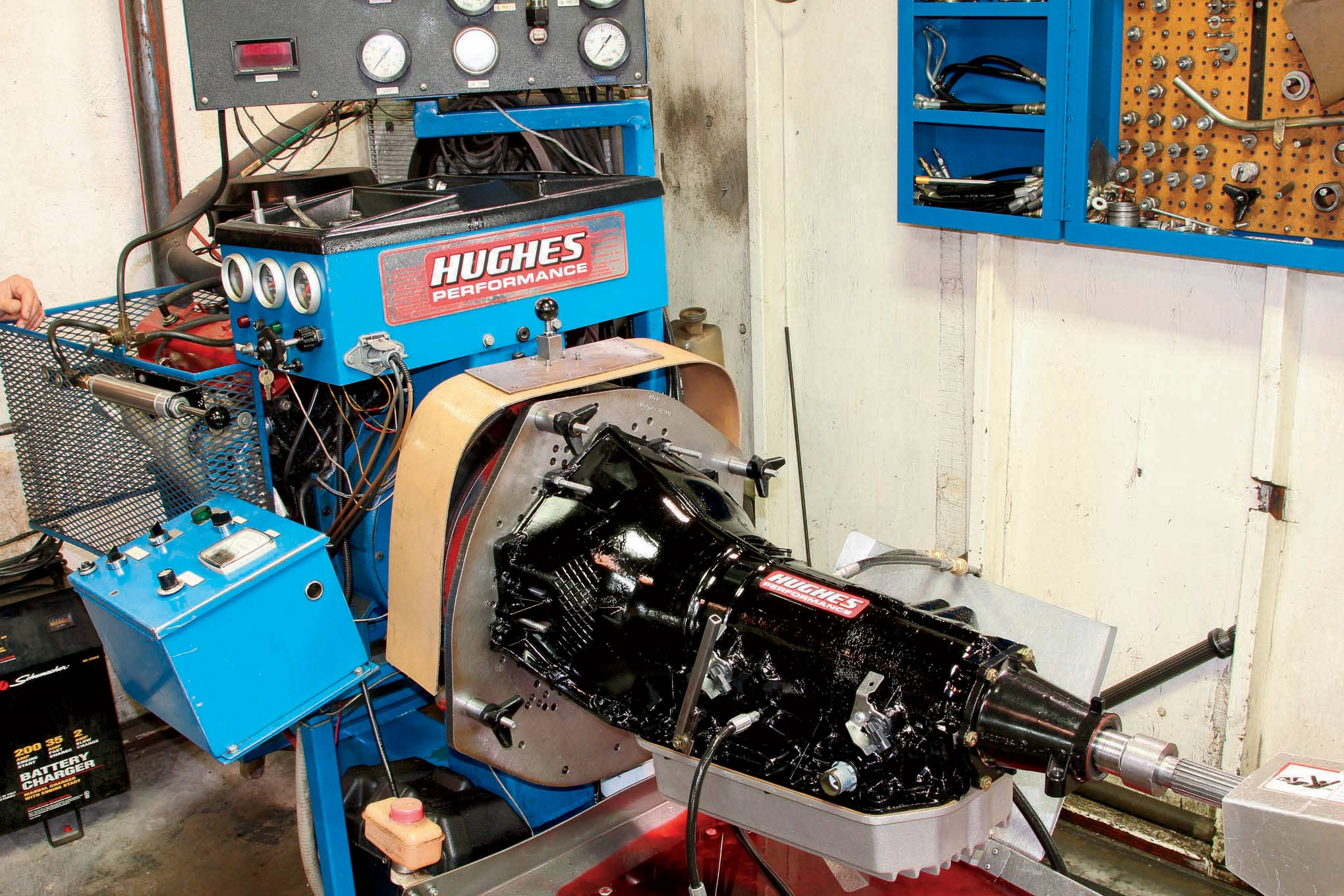 Each Hughes transmission is completely dyno tested to verify line pressure, shift function, and cooler flow before it goes out the door.
