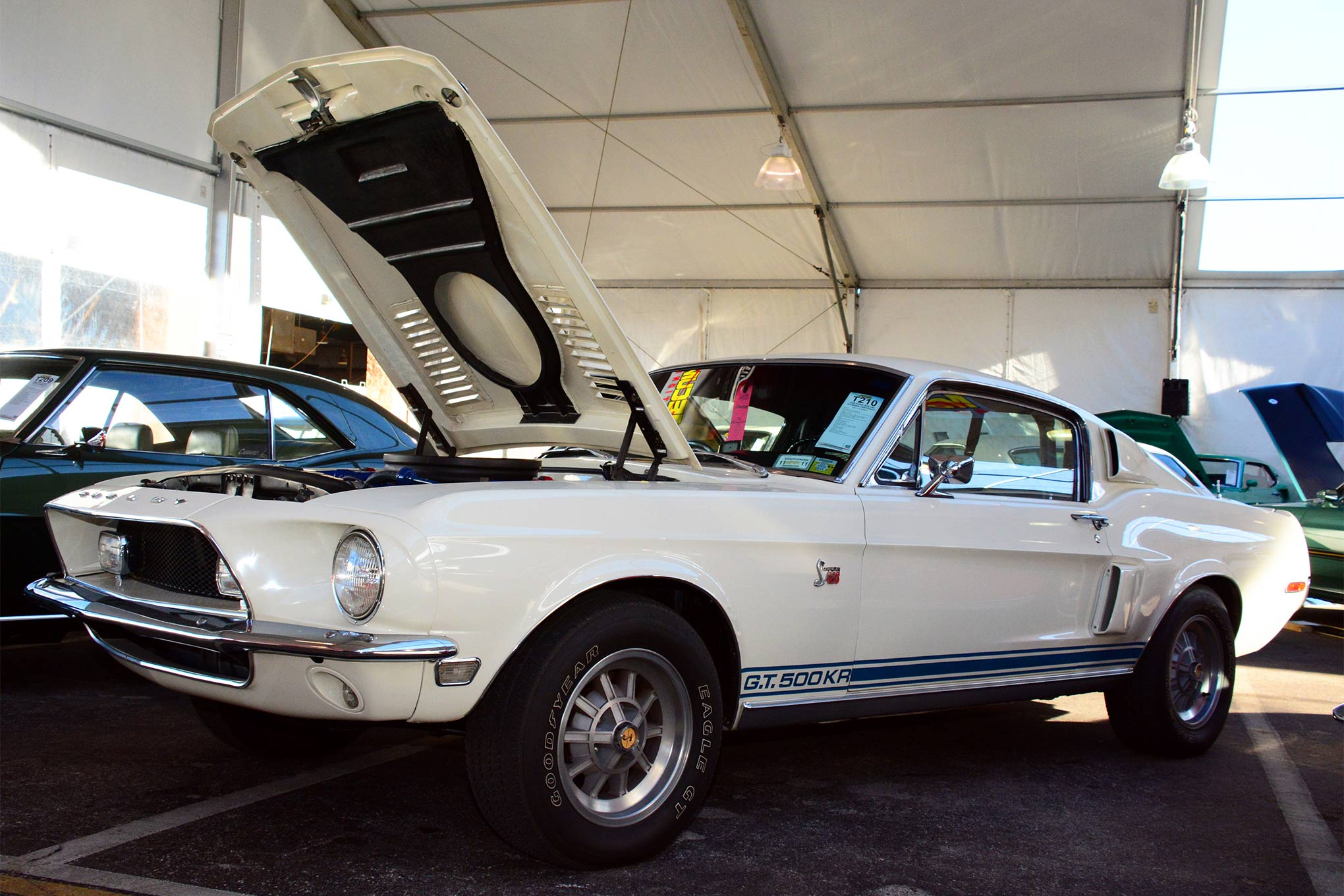 This 1968 Shelby GT500, with a matching-numbers 428 Cobra Jet engine and Carroll Shelby's autograph on the glovebox, was one of the Great Eight cars selected by MCR to be followed during the course of Thursday's Mecum Kissimmee 2016 auction.